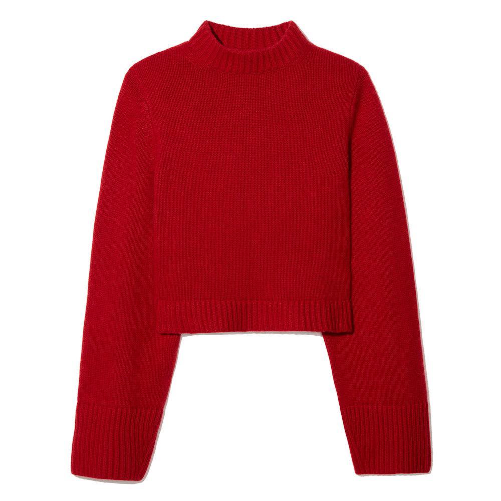 Khaite Mirren Cashmere Sweater in Red | Lyst