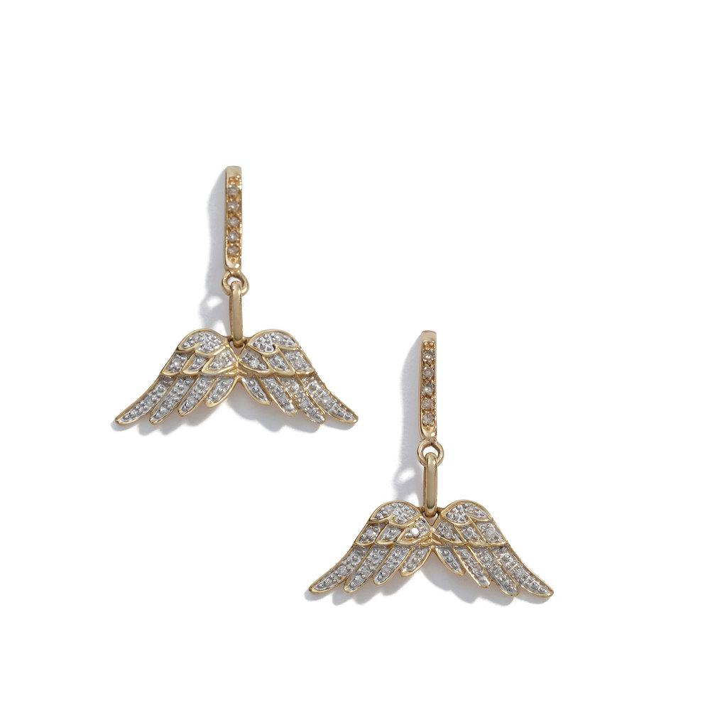 Sheryl Lowe Pavé Diamond Butterfly Stud Earrings gqcuk