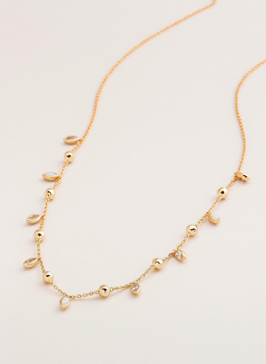 Rumi Confetti Adjustable Necklace in Metallic Gold Gorjana GgEc2Jz