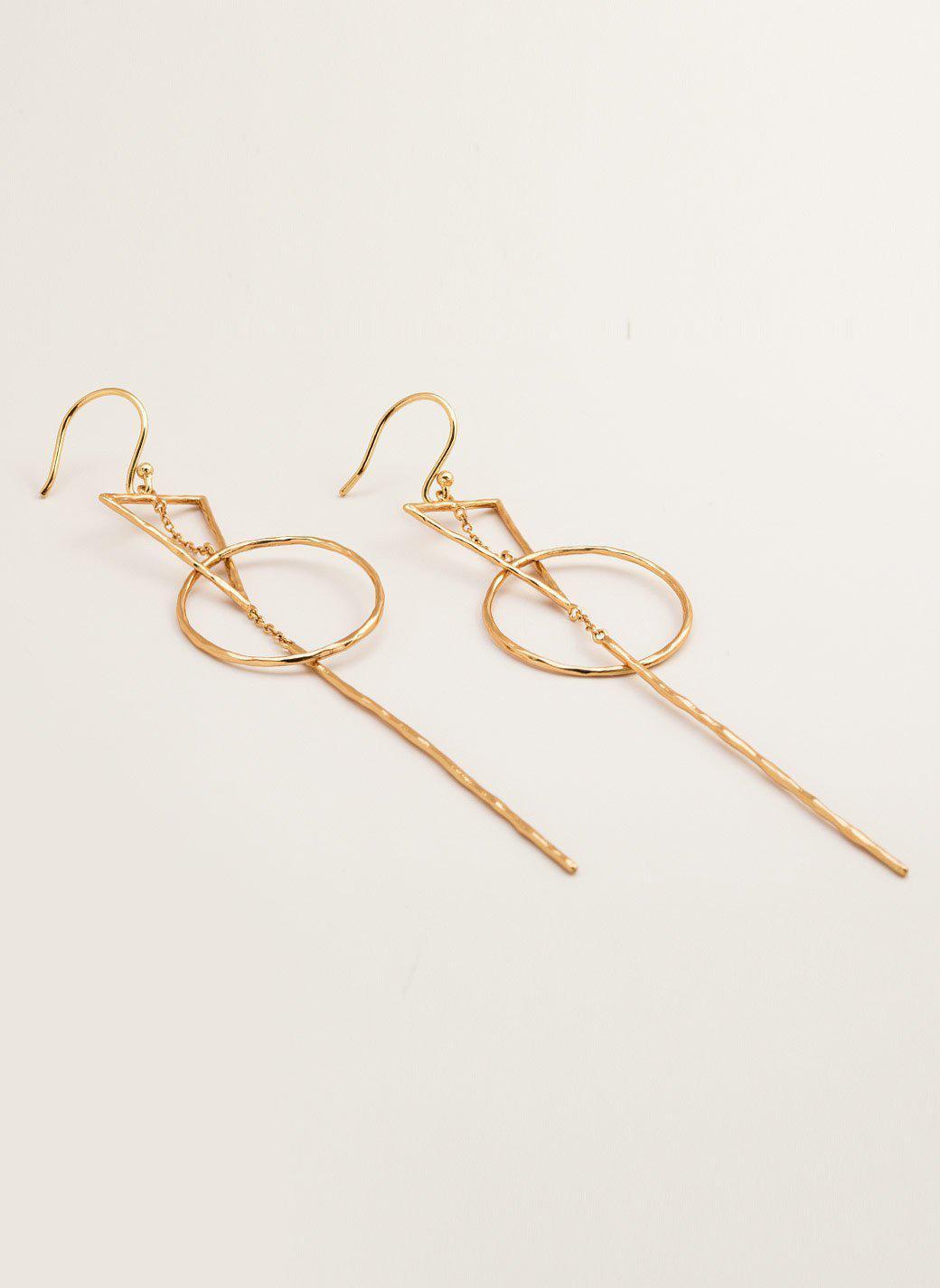 Interlocking Drop Earrings in Metallic Gold Gorjana l5M88JIQ