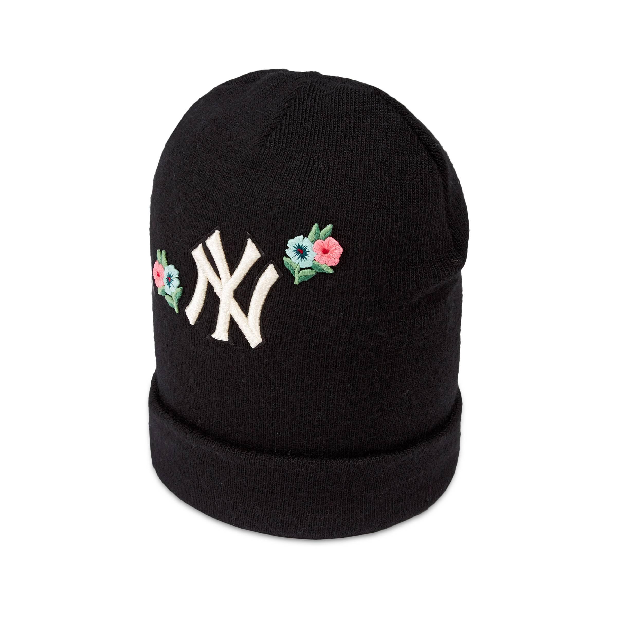 Lyst - Gorro de Lana Bordado New York YankeesTM Gucci de color Negro 76f12f10d12