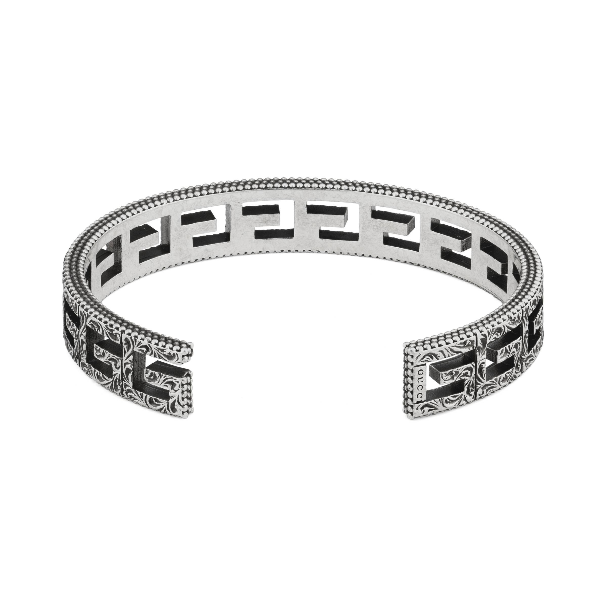 02cb75dd3c4a2 Gucci Cuff Bracelet With Square G Motif in Metallic for Men - Lyst