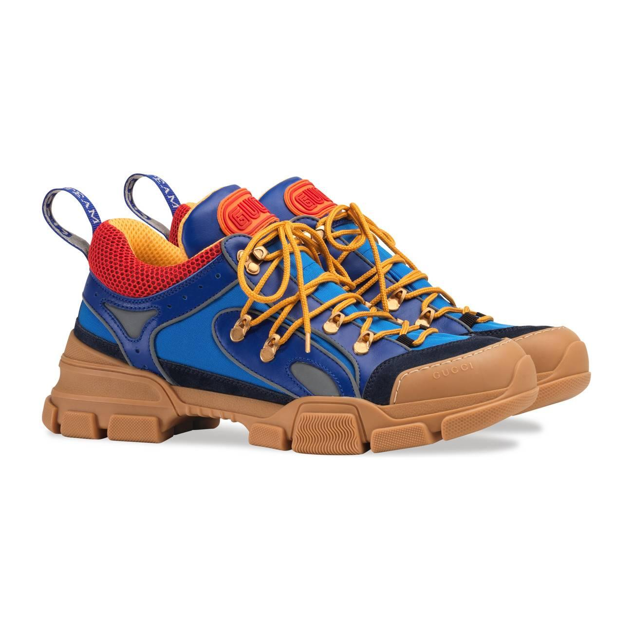 ed170056a24 Gucci - Blue Flashtrek Sneakers for Men - Lyst. View fullscreen