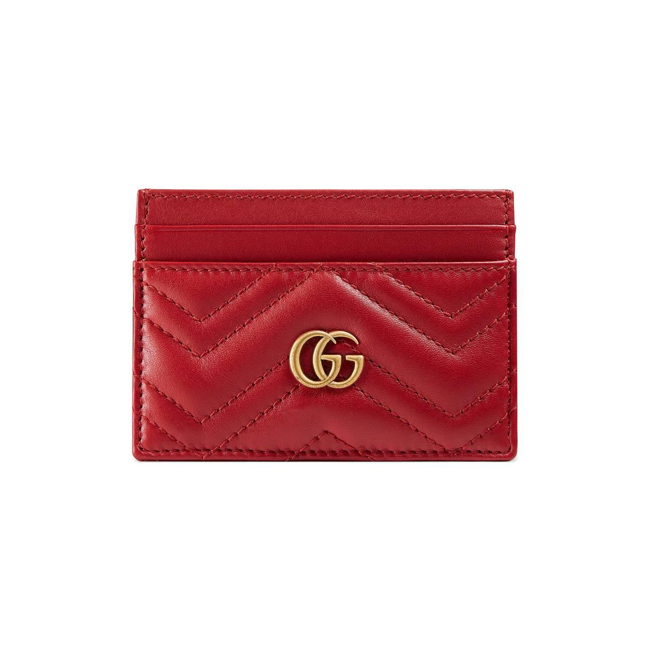 38168b3e938f65 Gucci GG Marmont Card Case in Red - Save 30% - Lyst