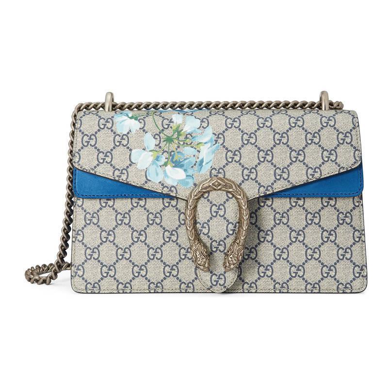 515a25c7c Gucci Dionysus Gg Blooms Shoulder Bag in Blue - Lyst