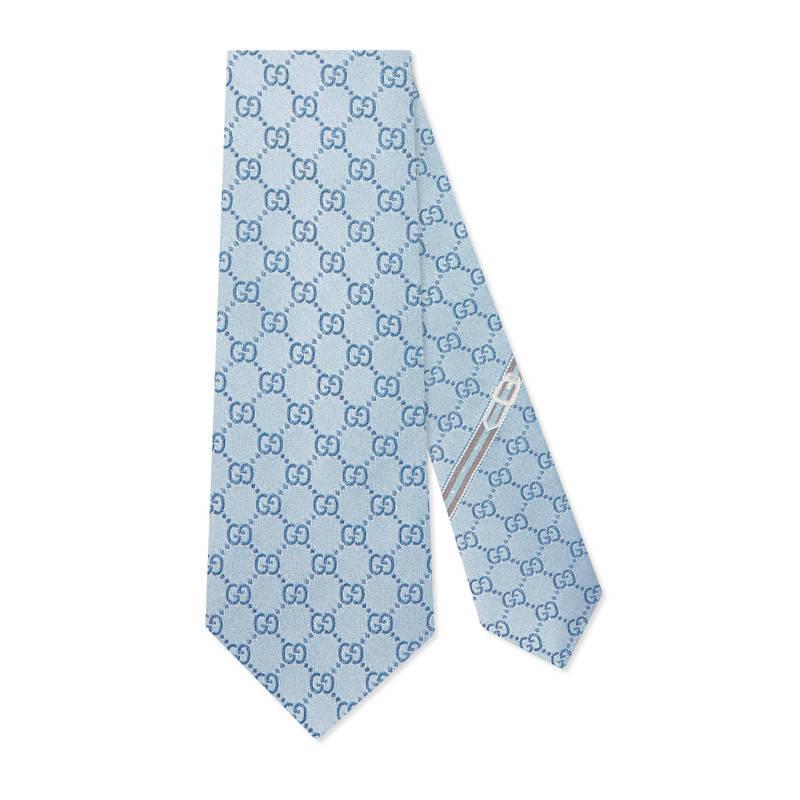 GG pattern silk tie - Blue Gucci em8UjSS