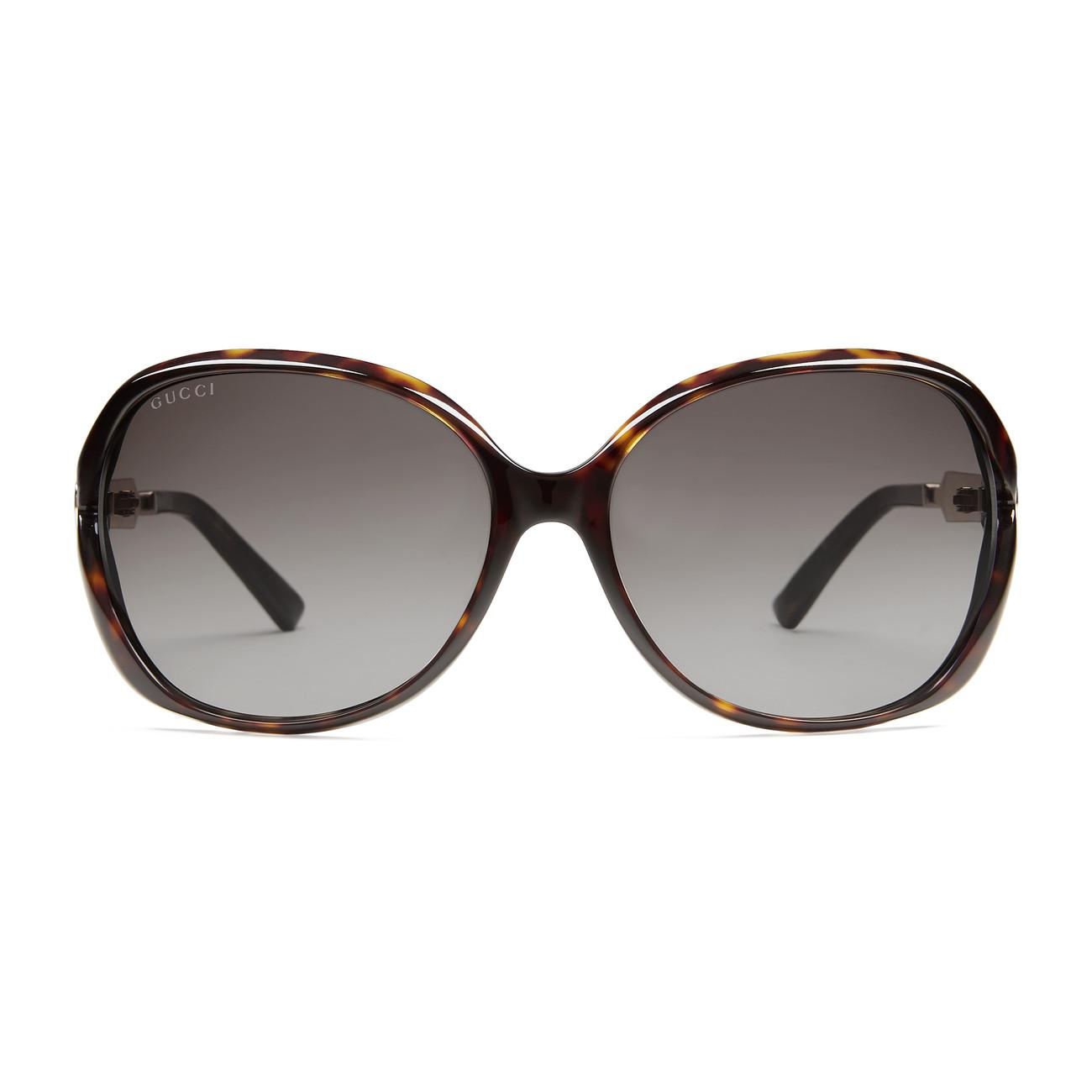9756ead970 Gucci - Brown Oversize Round-frame Acetate And Metal Sunglasses - Lyst.  View fullscreen