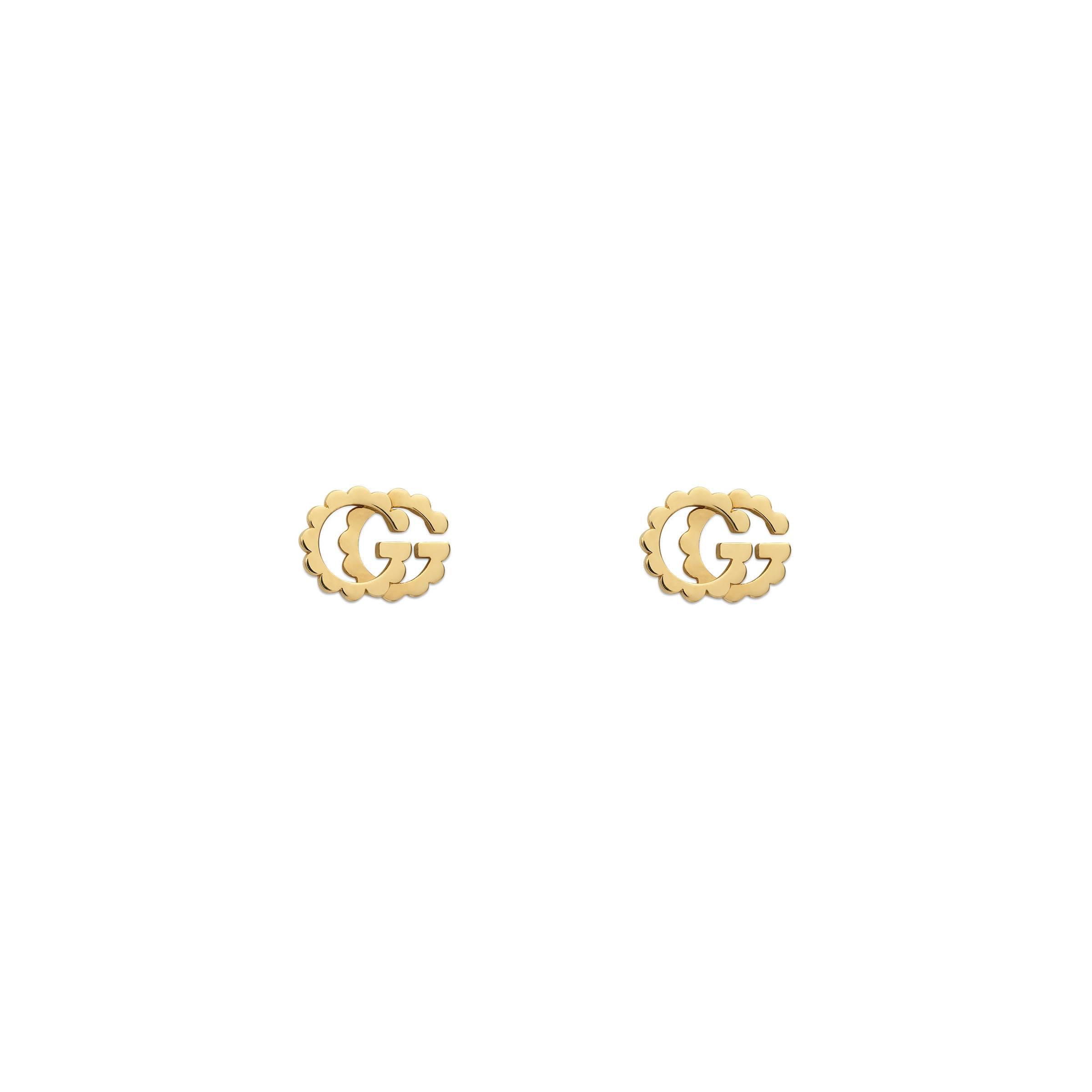 8606dd3d128 Gucci GG Running Studs in Metallic - Lyst