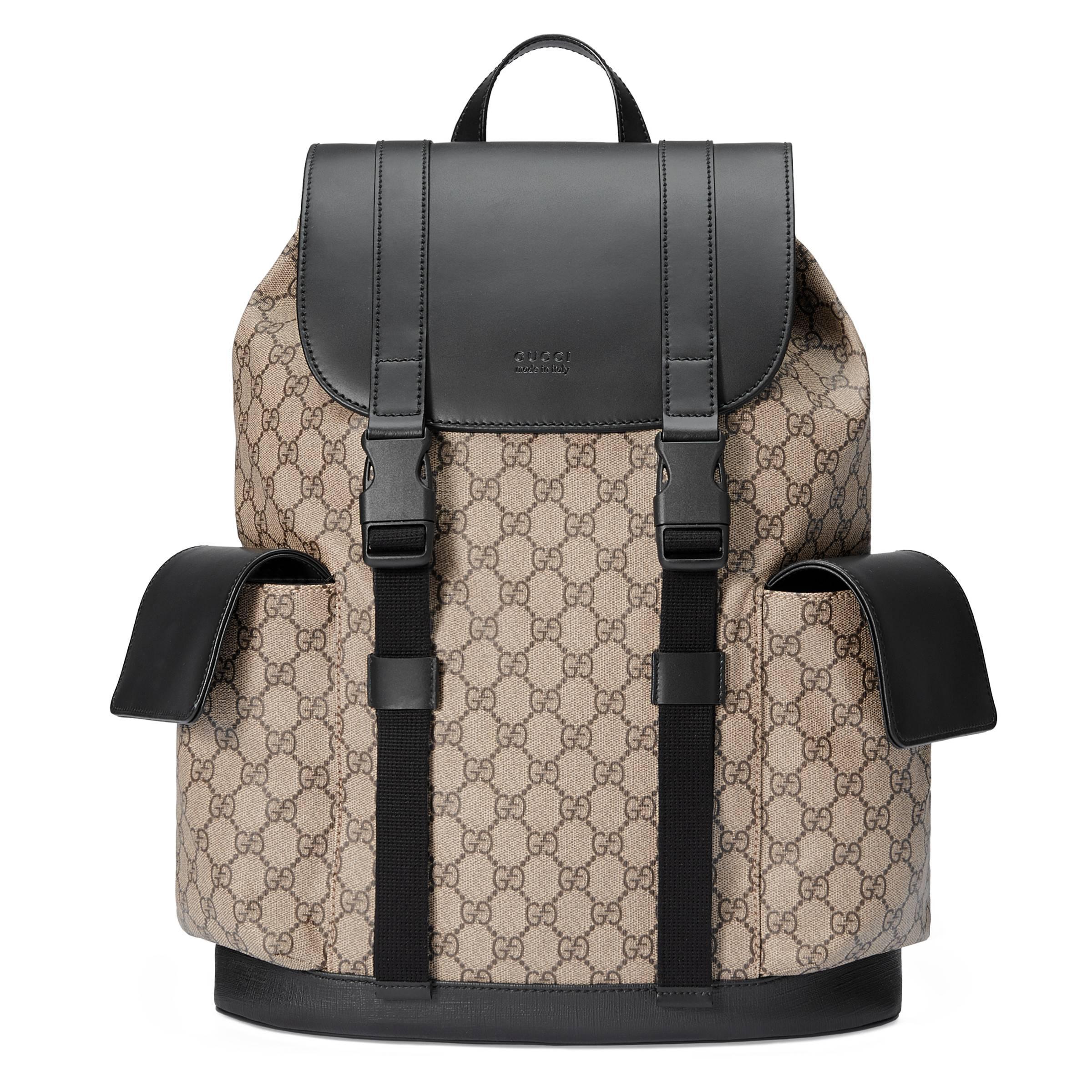 6c5316f36fc Lyst - Sac à dos Suprême GG souple Gucci pour homme en coloris Neutre