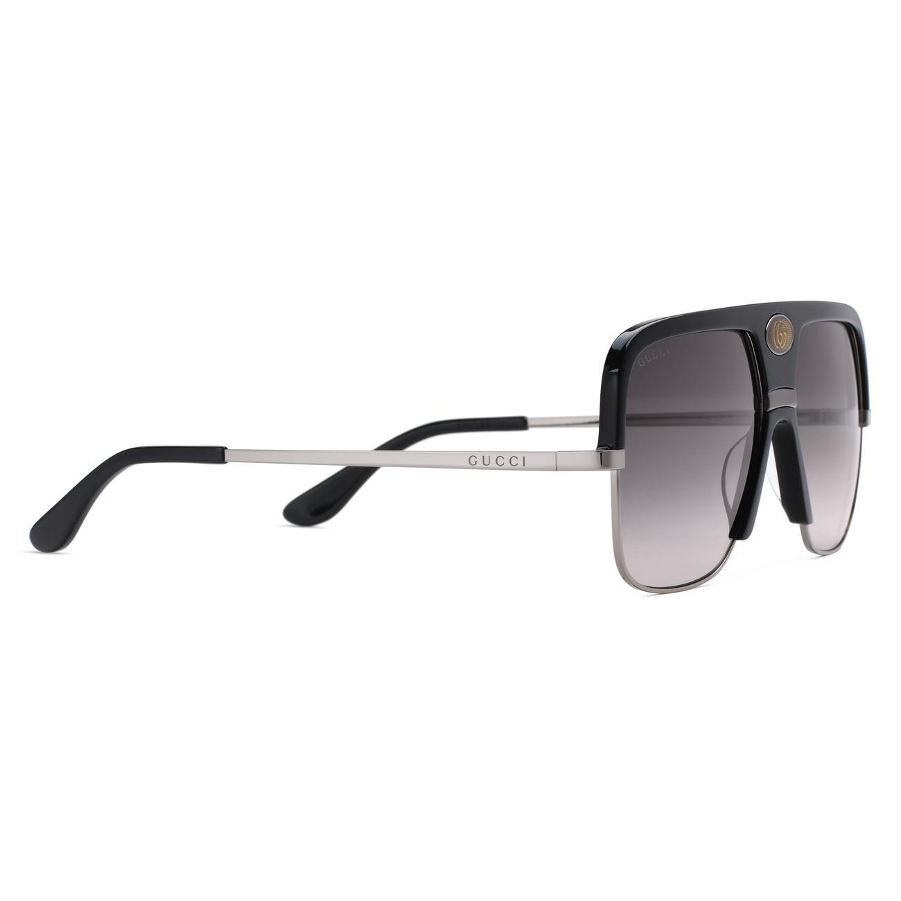 f11913242c7b ... Navigator Sunglasses With Double G for Men - Lyst. View fullscreen