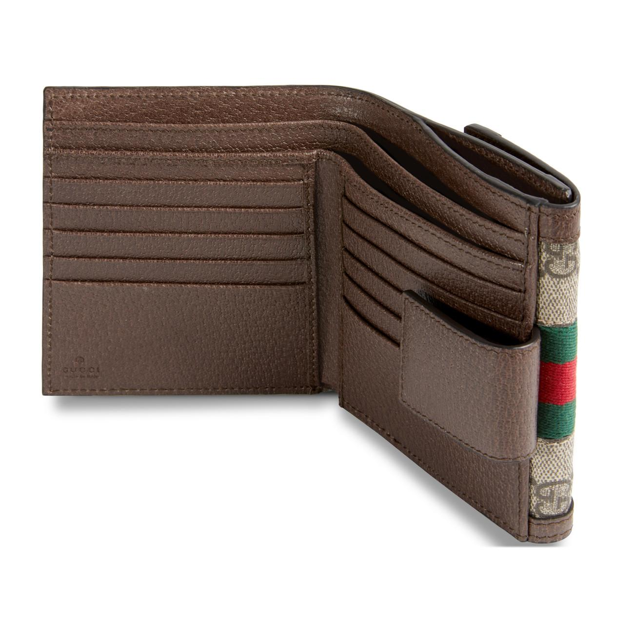 e6cf8ab584c00b Gucci Ophidia GG French Flap Wallet Beige in Natural - Lyst