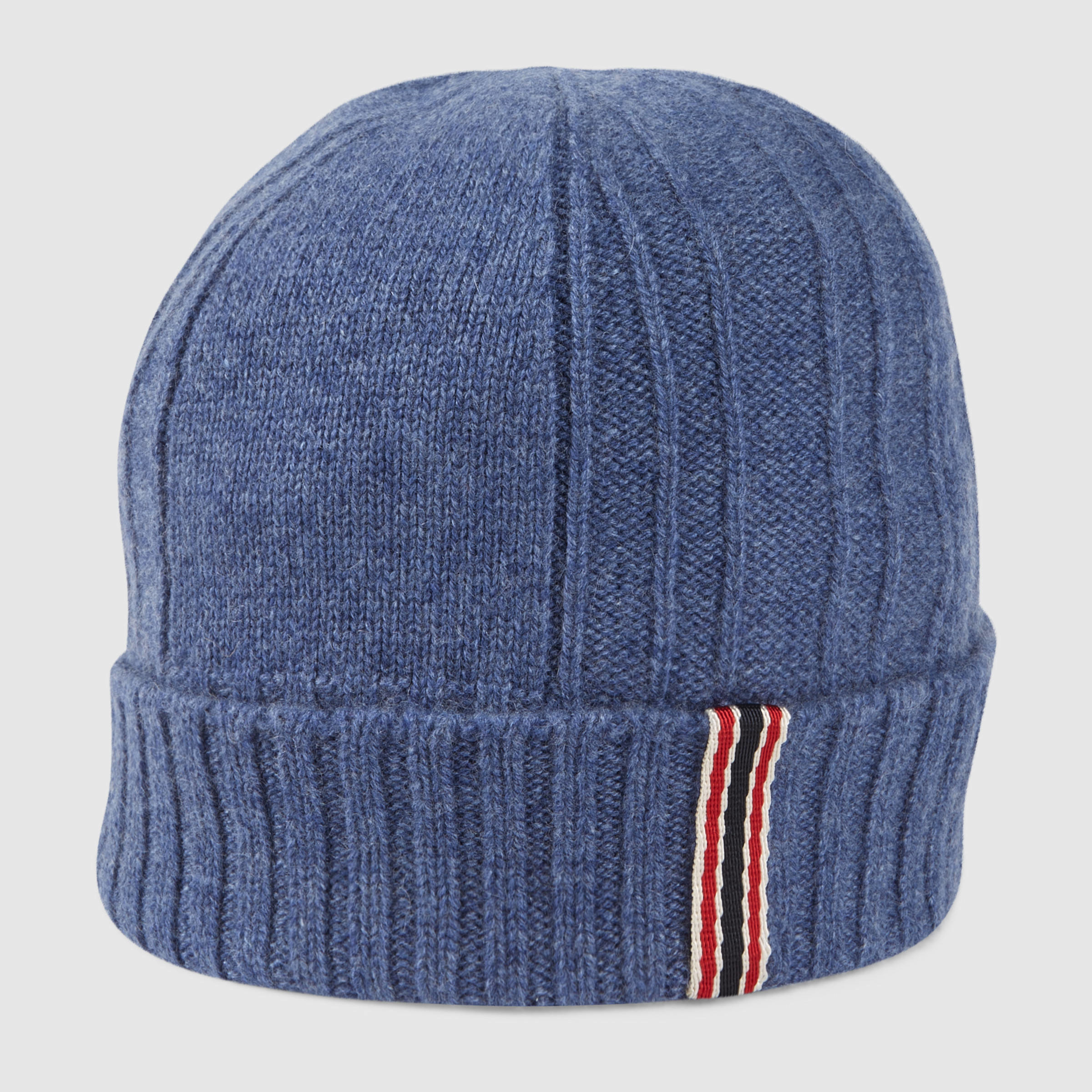 Gucci Hats For Men: Gucci Sapphire Cashmere Hat In Blue For Men
