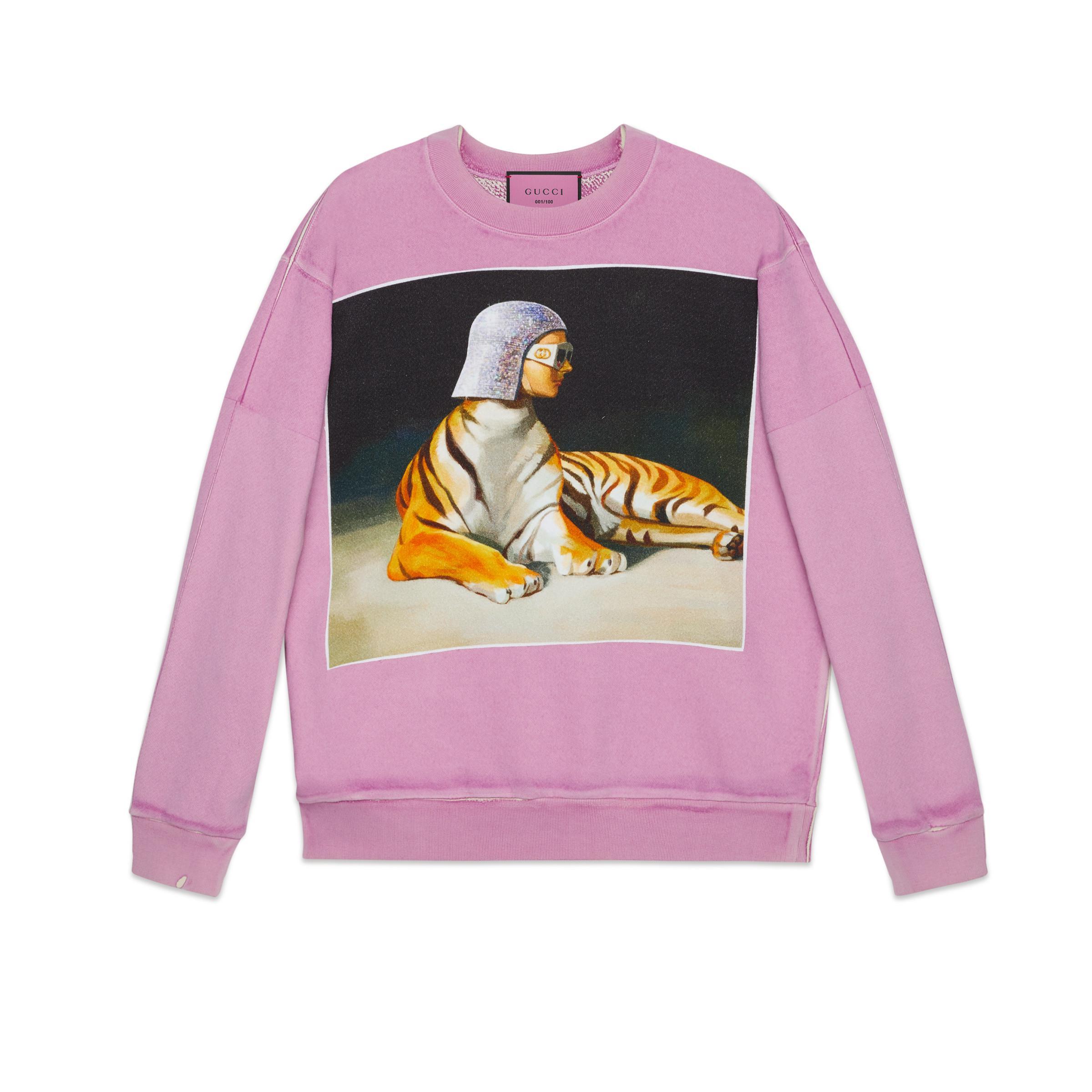 Gucci Oversize #hallucination Sweatshirt in Pink - Lyst