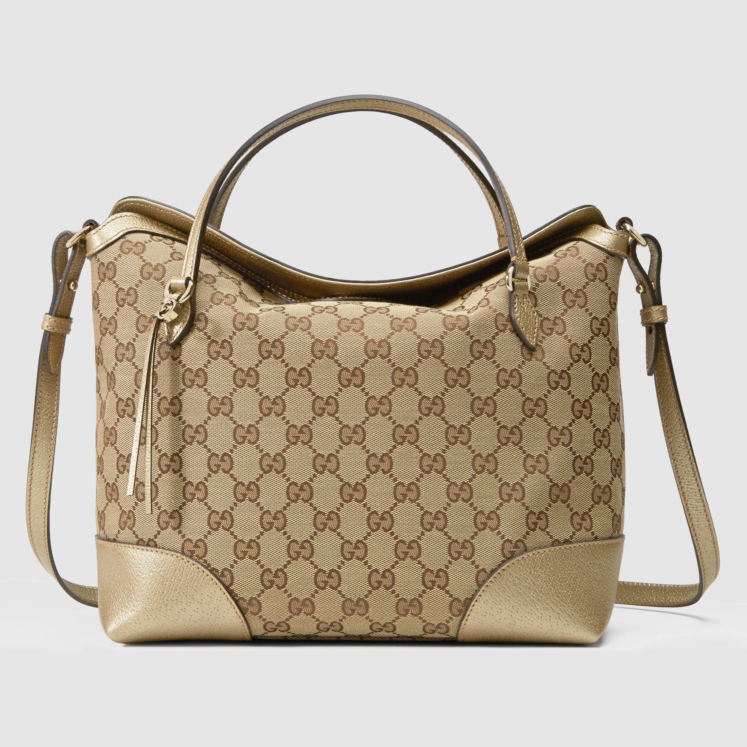 fd2d941776f Lyst - Gucci Bree Original Gg Canvas Top Handle Bag in Brown