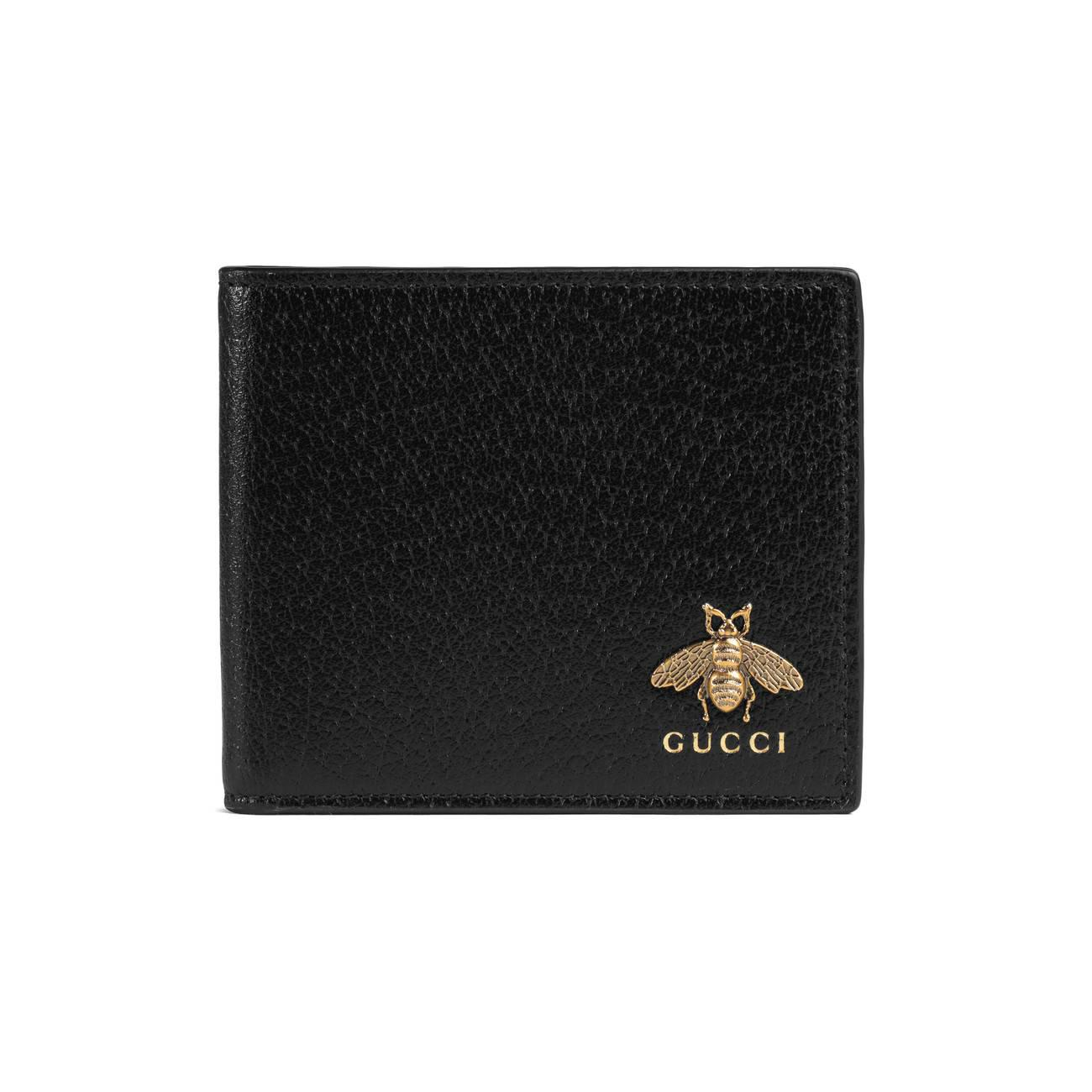 533245921849 Gucci - Black Animalier Leather Wallet for Men - Lyst. View fullscreen