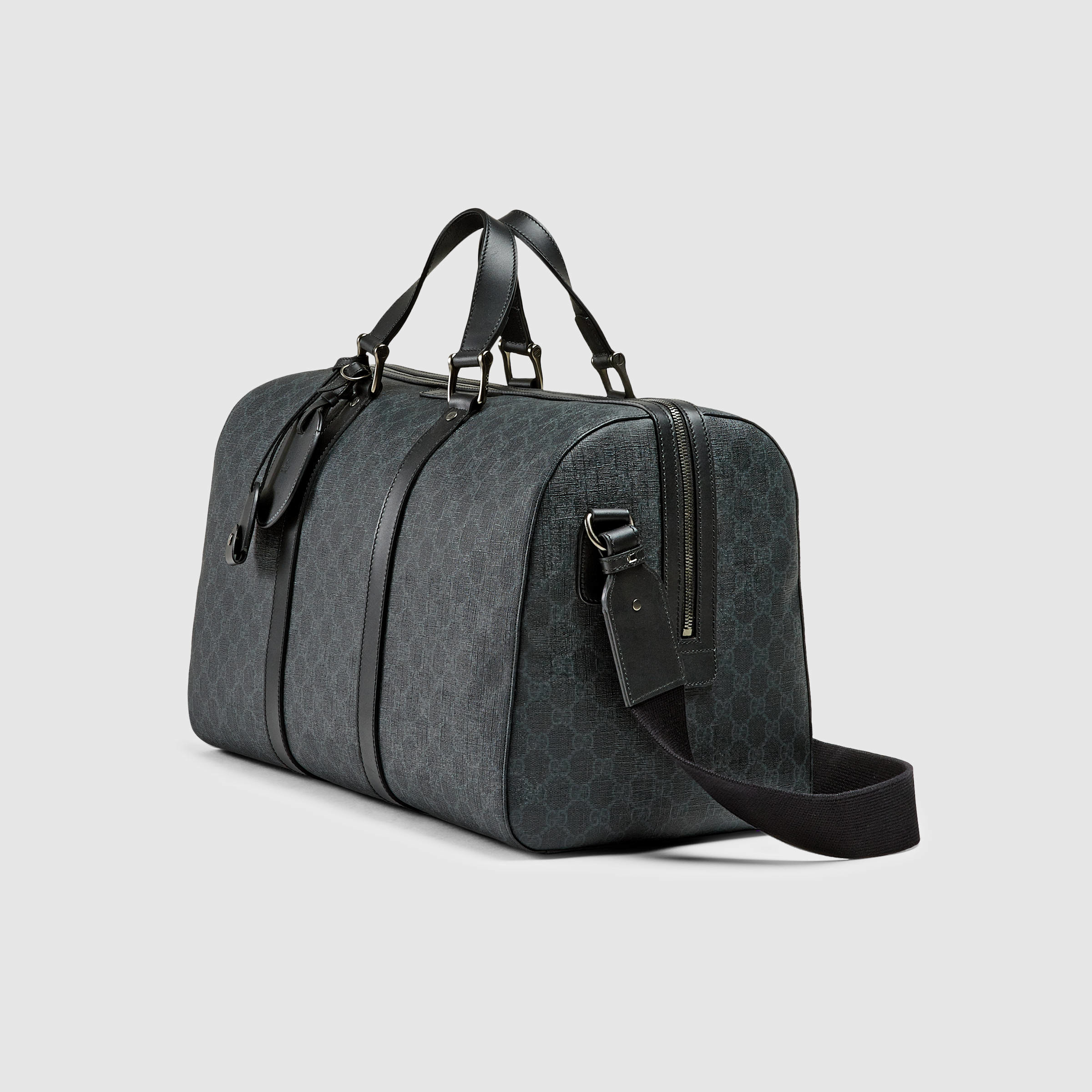 39a7c8364c7 Lyst - Gucci Gg Supreme Canvas Carry-on Duffle Bag in Black for Men