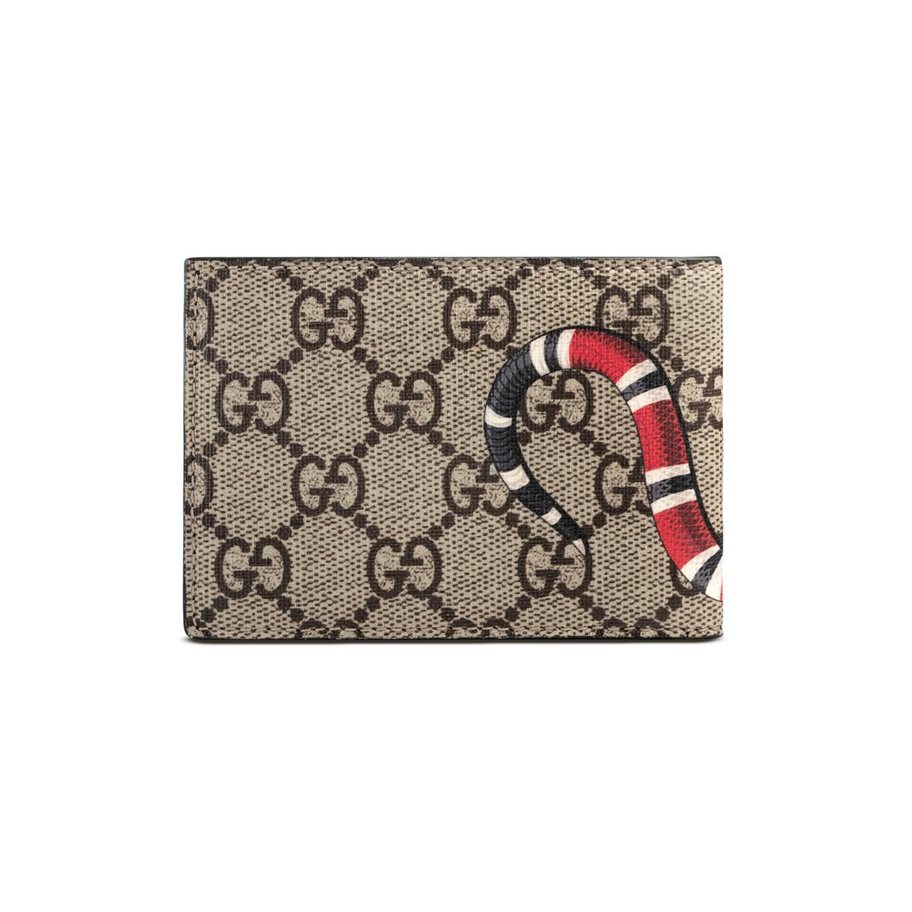 fc9a05cb60fd Gucci - Multicolor Kingsnake Print GG Supreme Wallet for Men - Lyst. View  fullscreen
