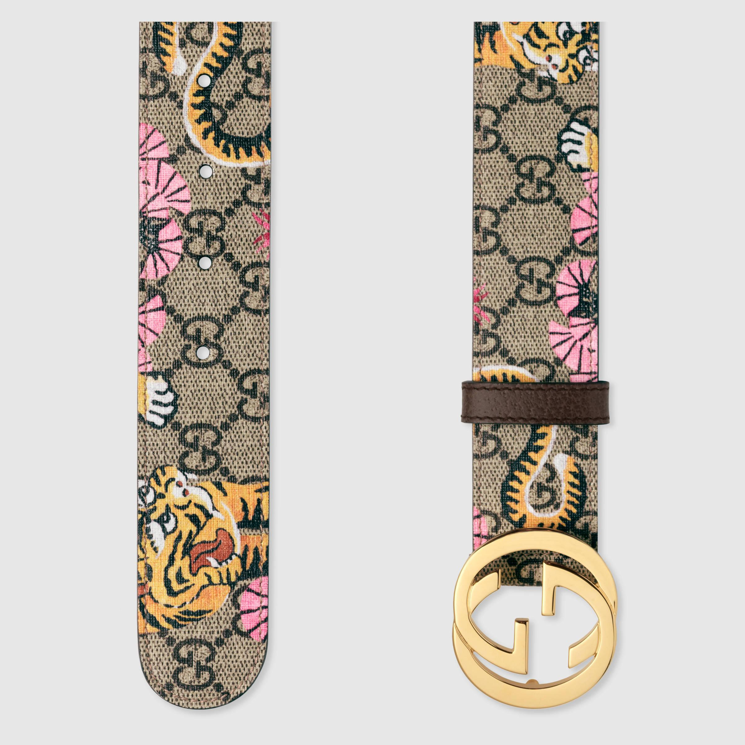b0e08f6e2 Gucci Bengal Gg Supreme Belt in Metallic - Lyst
