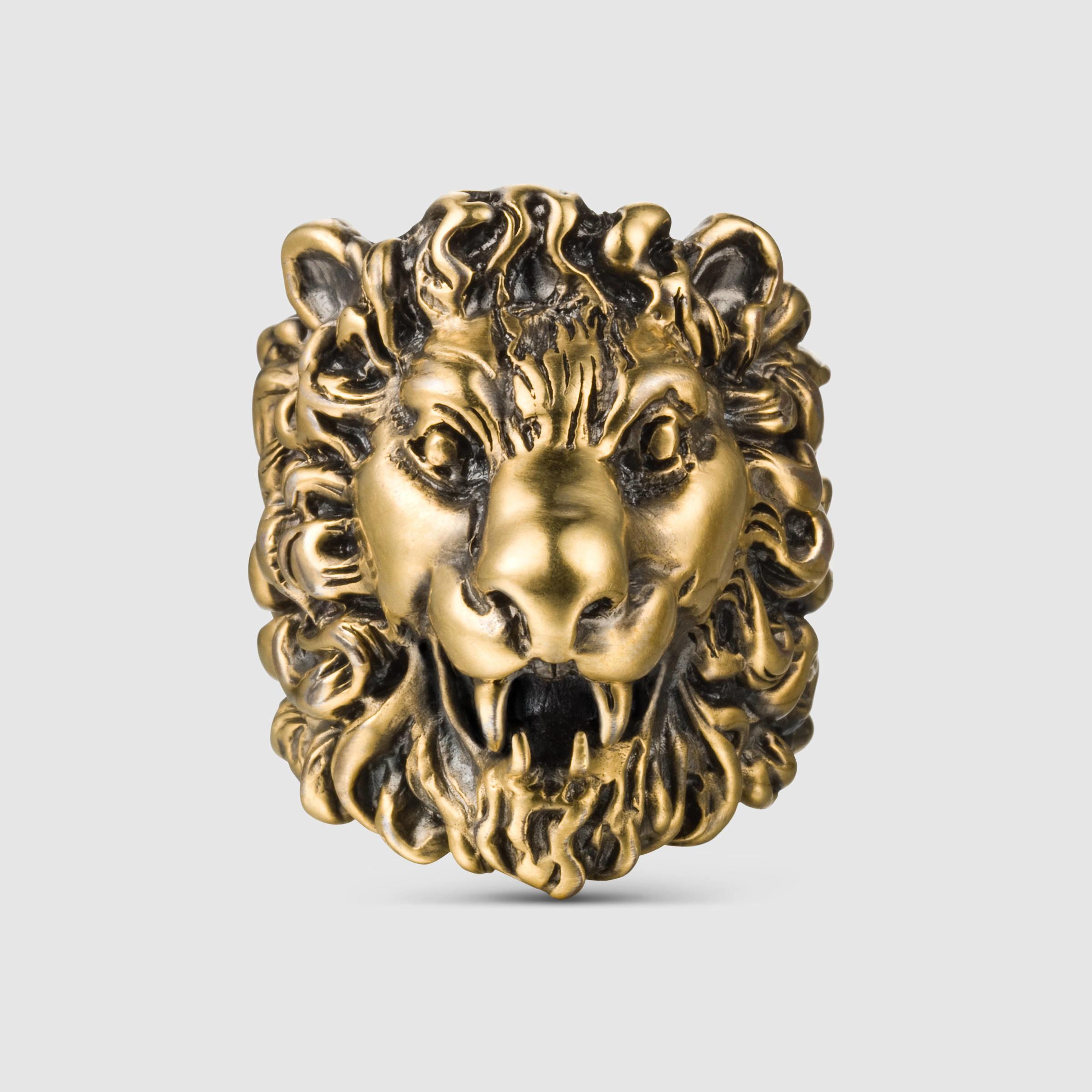 20f37726bfe Gucci Lion Ring Replica