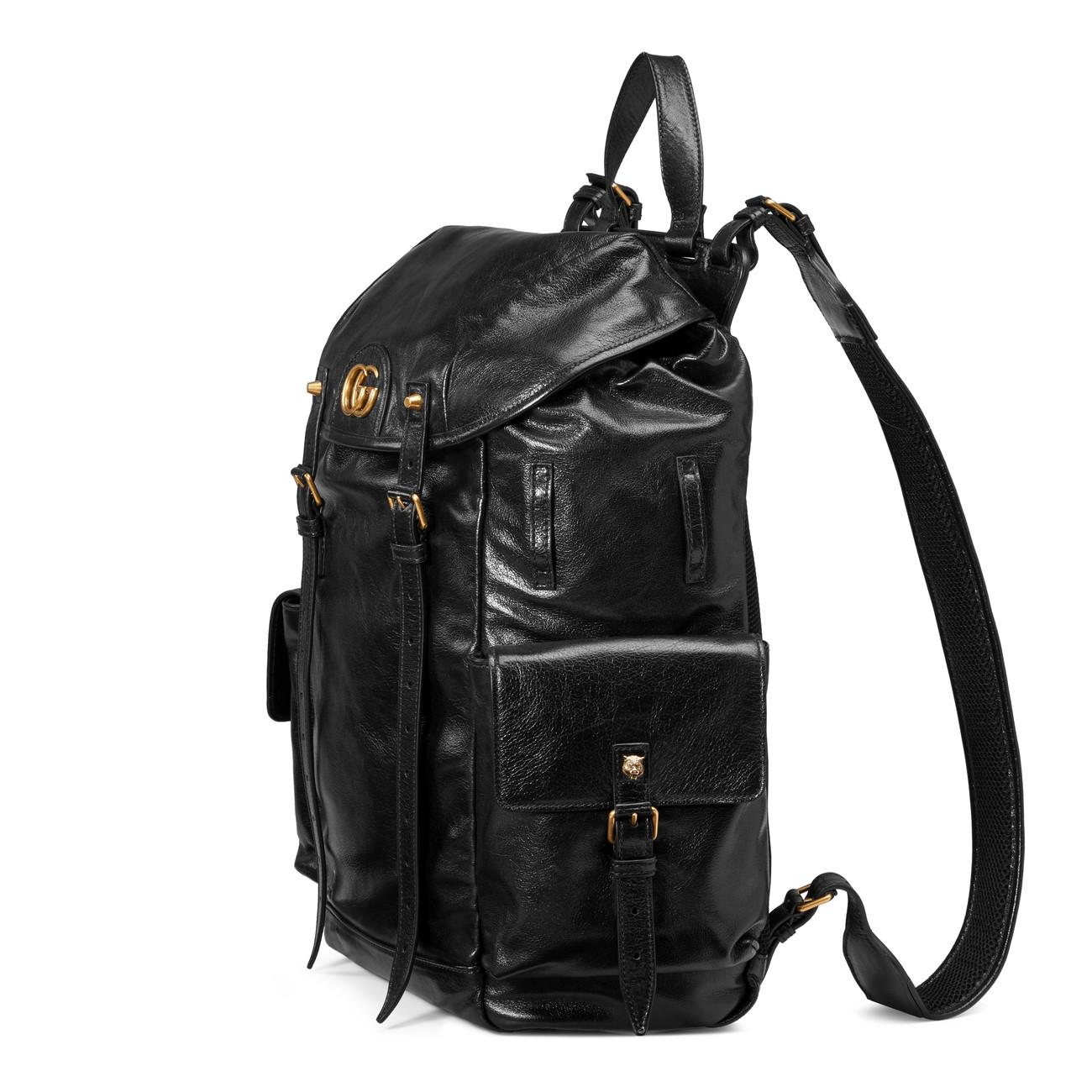 f5da2cfe11f0 Gucci Re(belle) Leather Backpack in Black for Men - Lyst