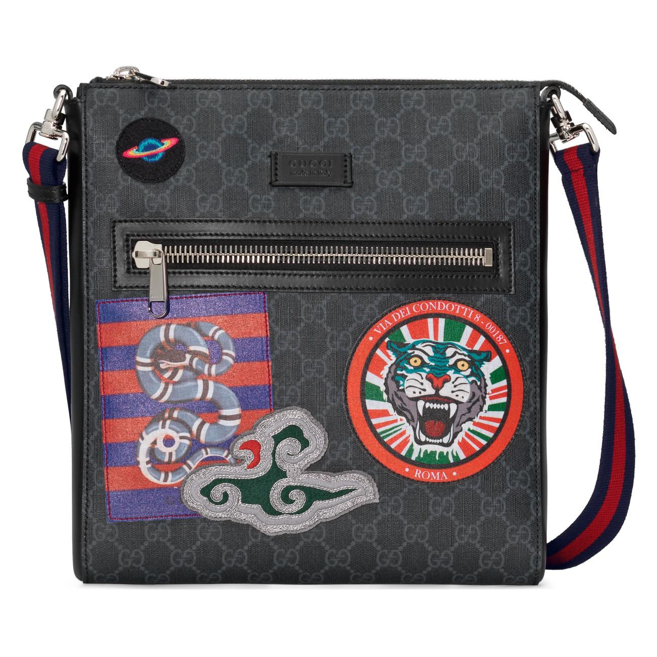 e233fa371a3 Lyst - Gucci Night Courrier GG Supreme Messenger for Men - Save 19%