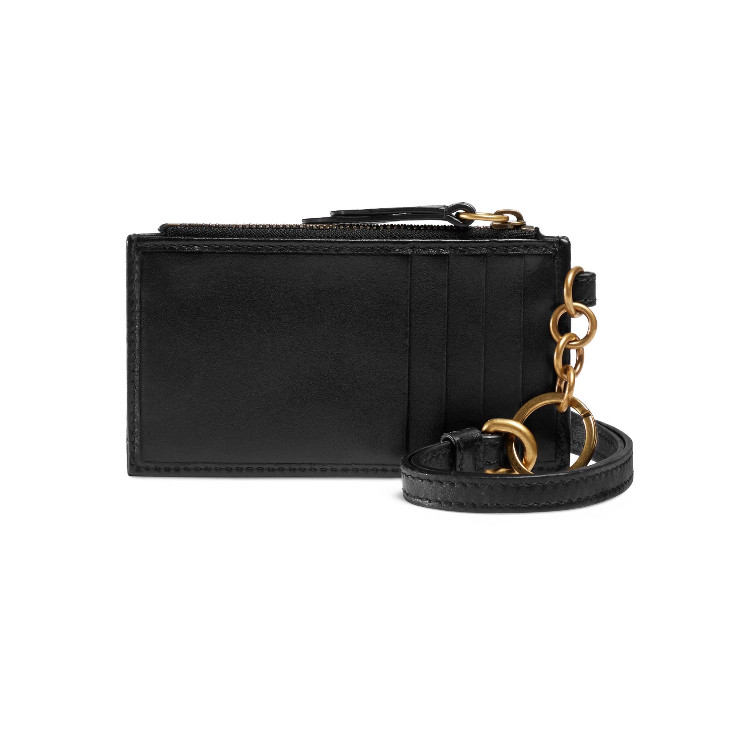 21a1493d2678 Gucci - Black GG Marmont Card Case - Lyst. View fullscreen