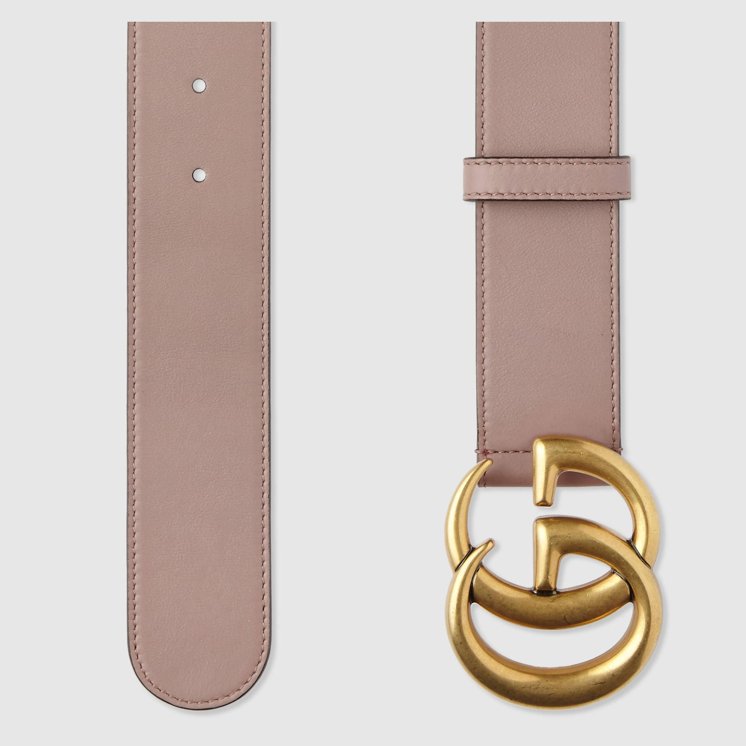 Leather belt with Double G buckle - Pink & Purple Gucci KXSdvzR