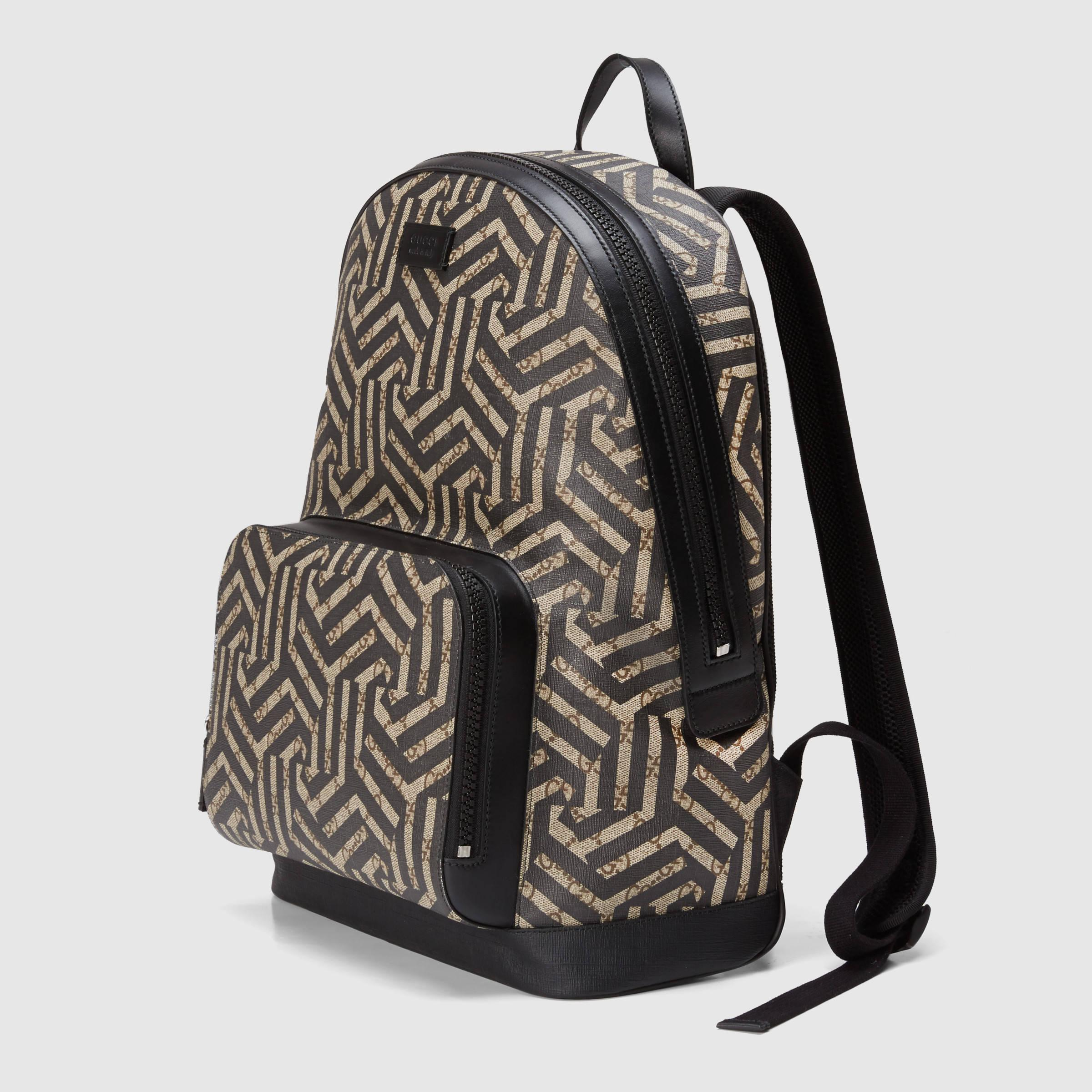 b6367bfdc0d Gucci Gg Caleido Canvas Backpack in Green - Lyst