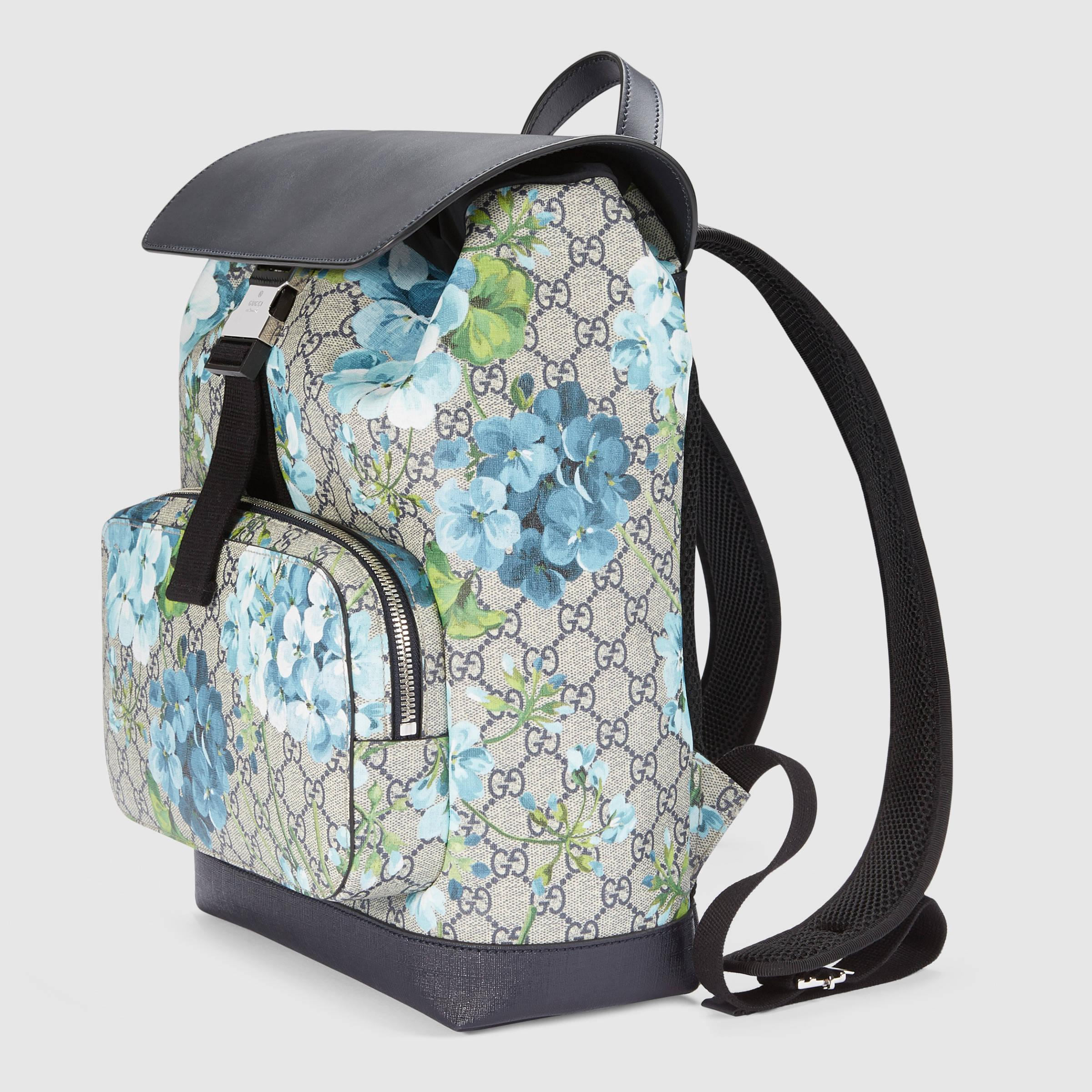 d9ff0b640643 Gucci Gg Blooms Backpack in Black - Lyst