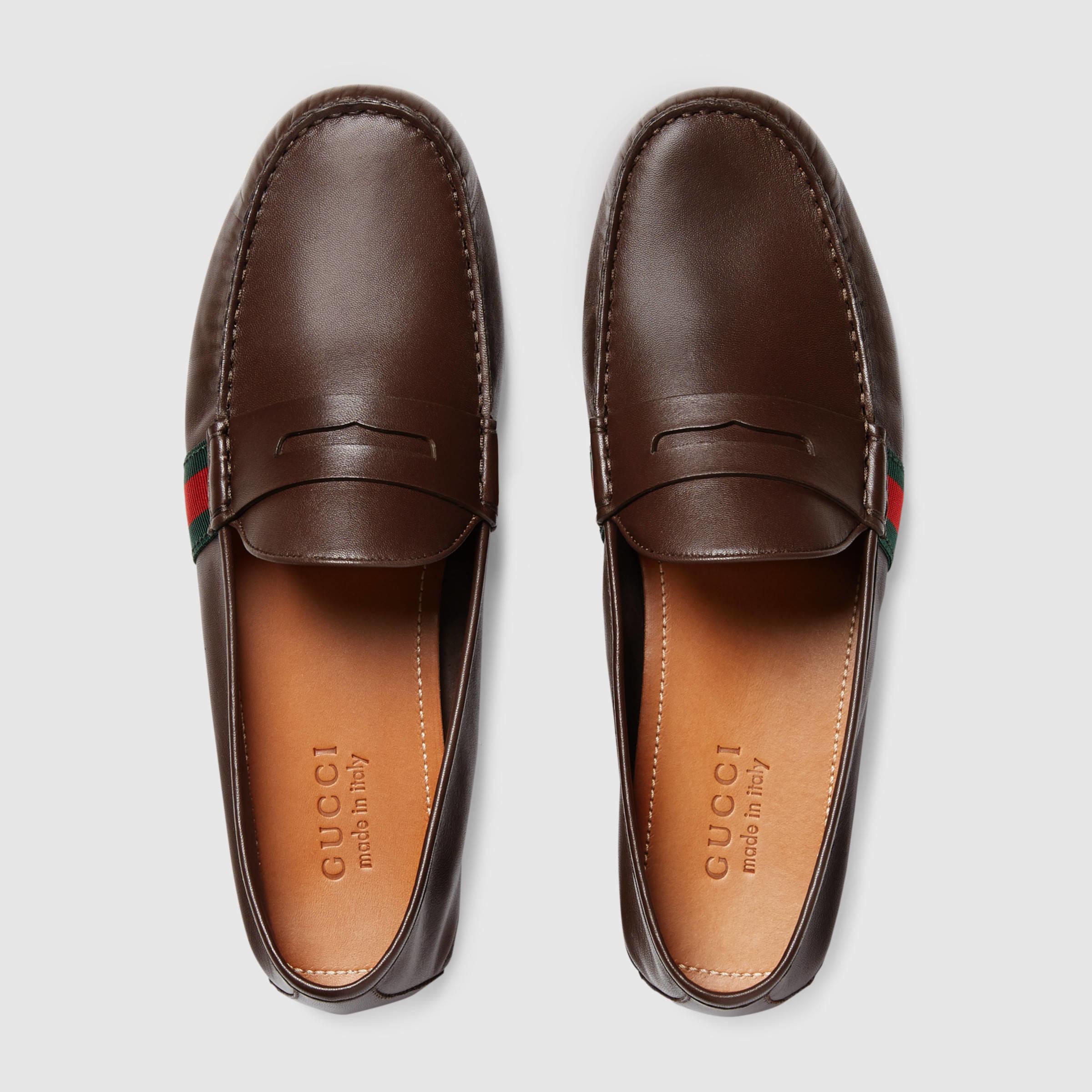 Lyst - Gucci Suede Fringe Horsebit Loafer in Natural for Men