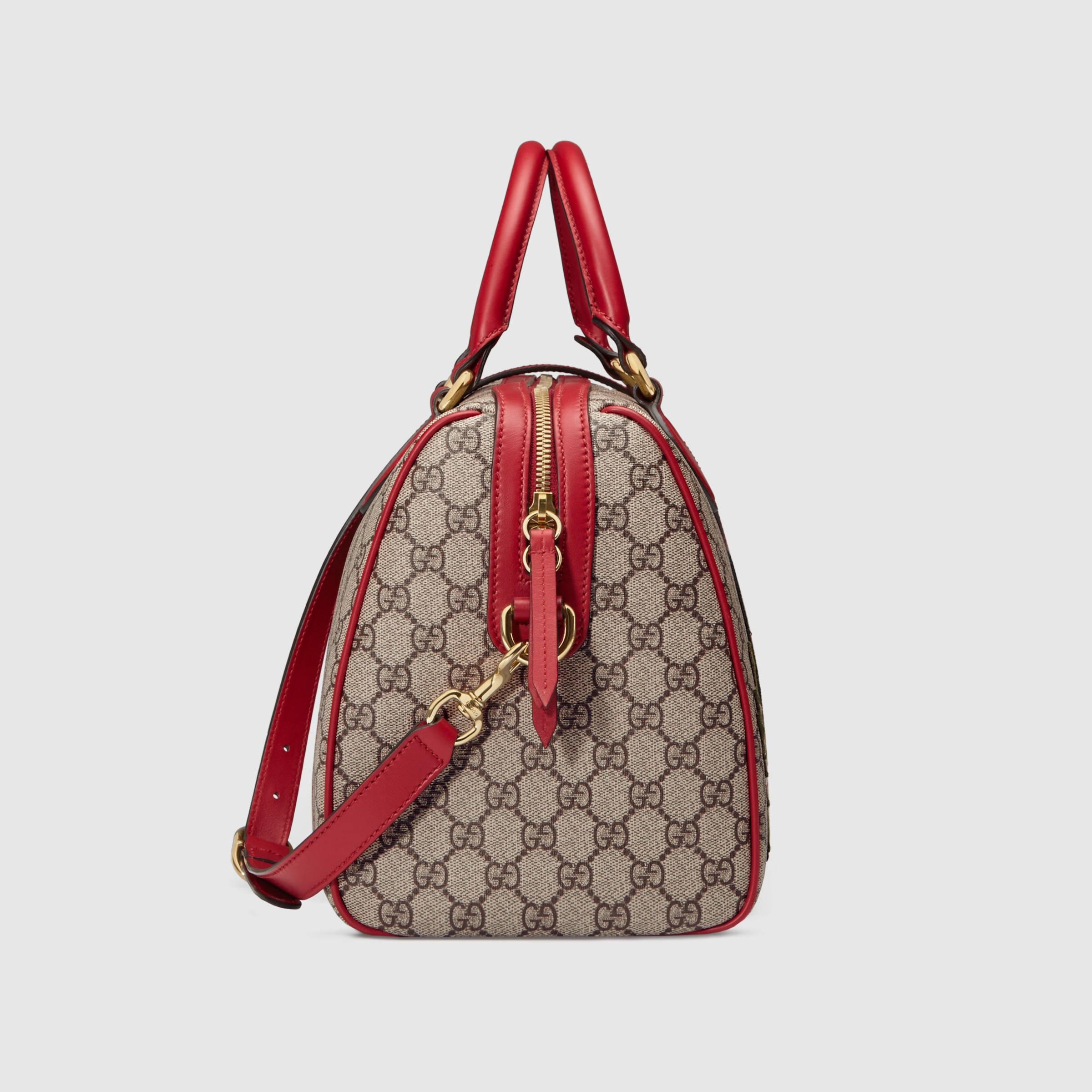 9b5b4eeb7e5f63 Gucci Limited Edition Gg Supreme Top Handle Bag With Embroideries | Lyst