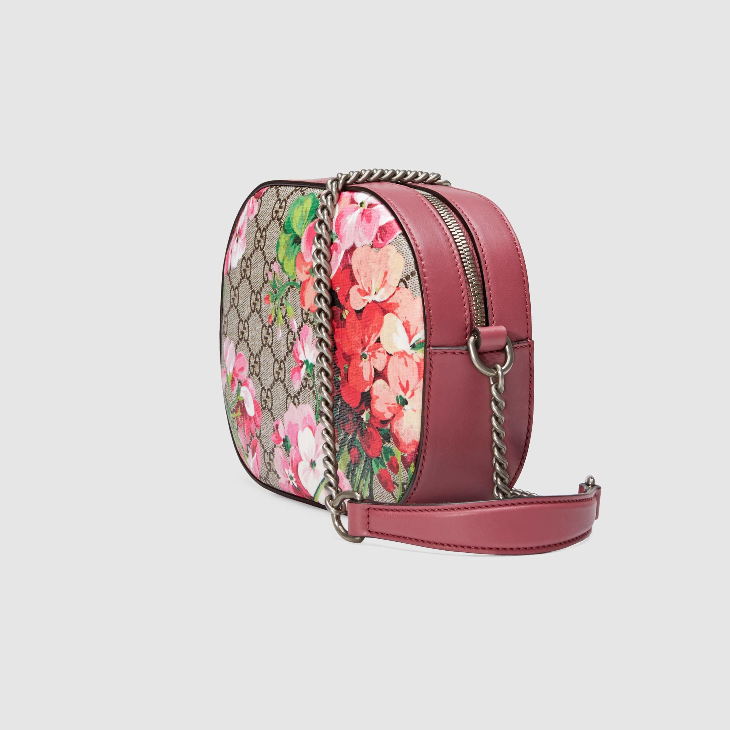 dff40d409f89c3 Gucci Blooms GG Supreme Mini Chain Shoulder Bag - Lyst