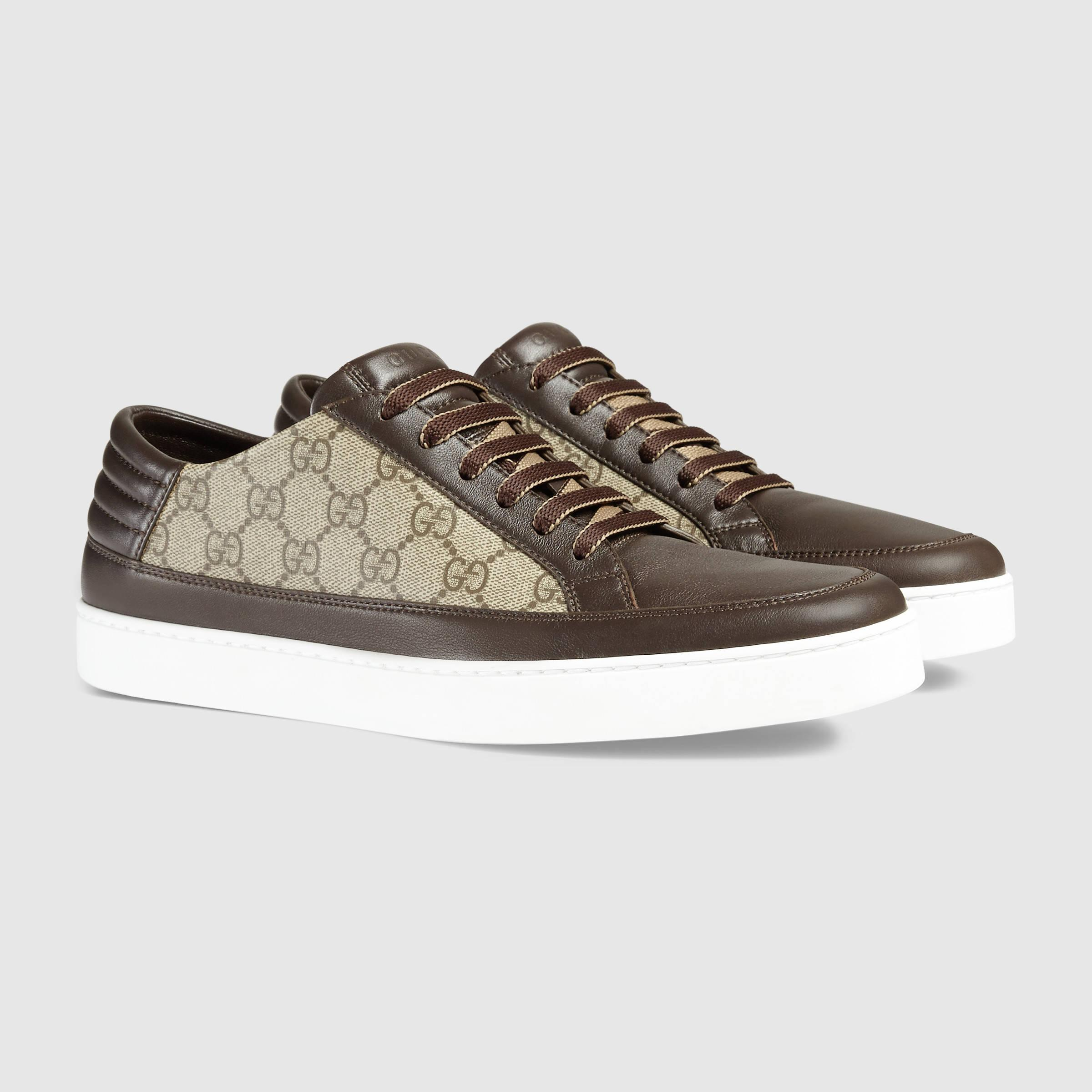 Gucci Gg Supreme Sneaker In Brown For Men Lyst