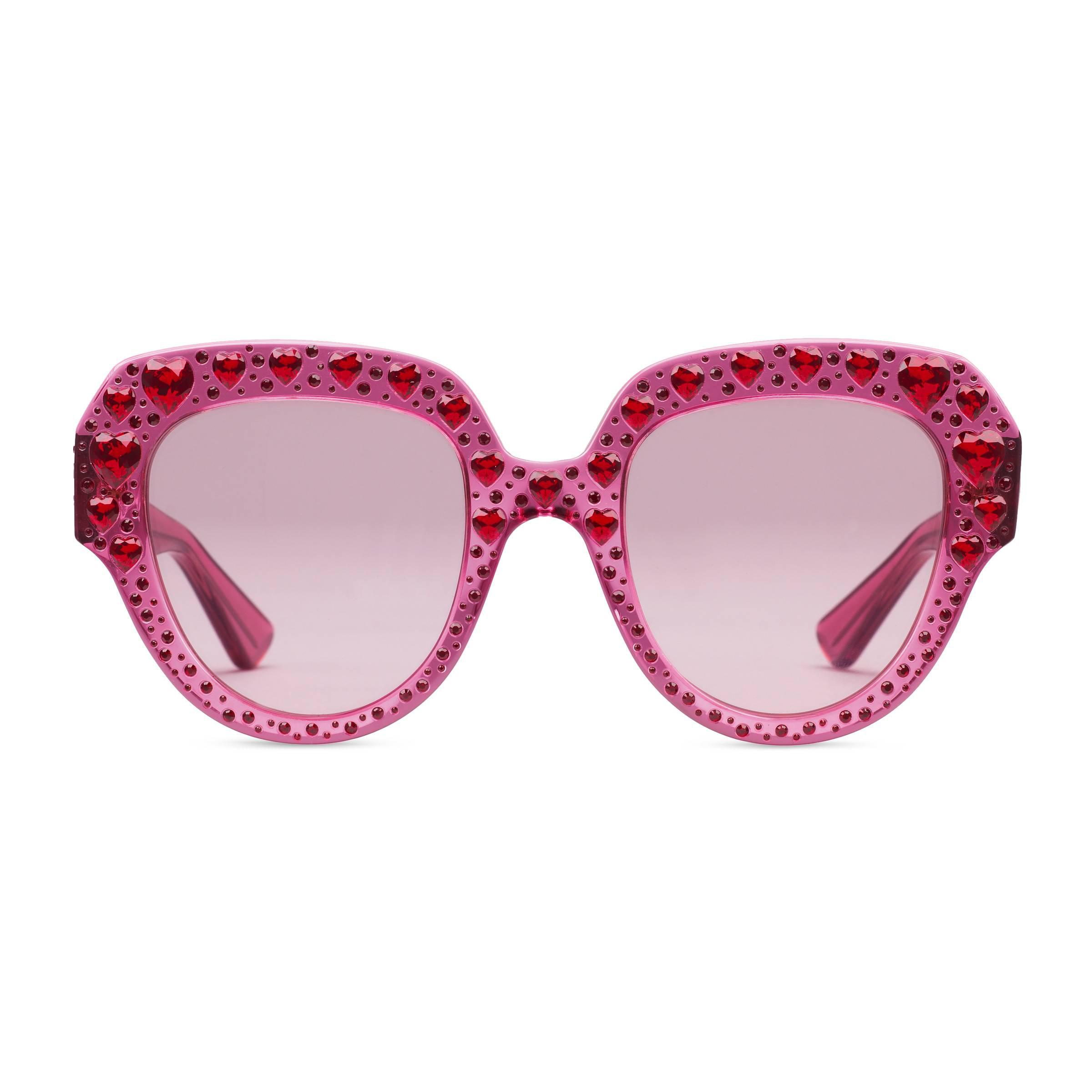 125578c45b Gucci - Multicolor Square-frame Acetate Sunglasses With Crystals - Lyst.  View fullscreen