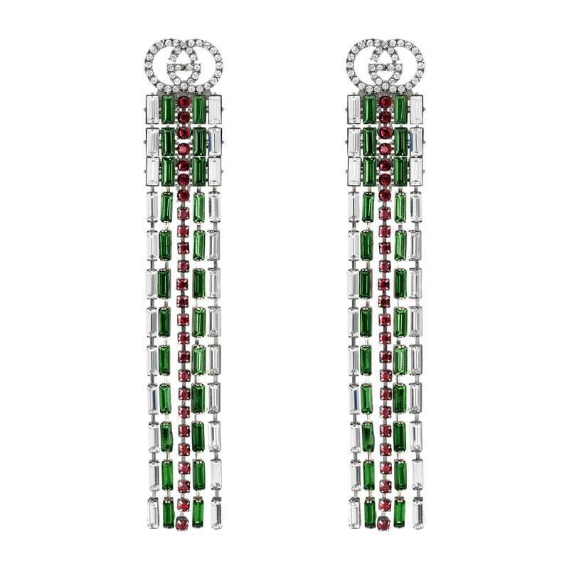 Crystal Web drop earrings - Metallic Gucci OHcZ9B
