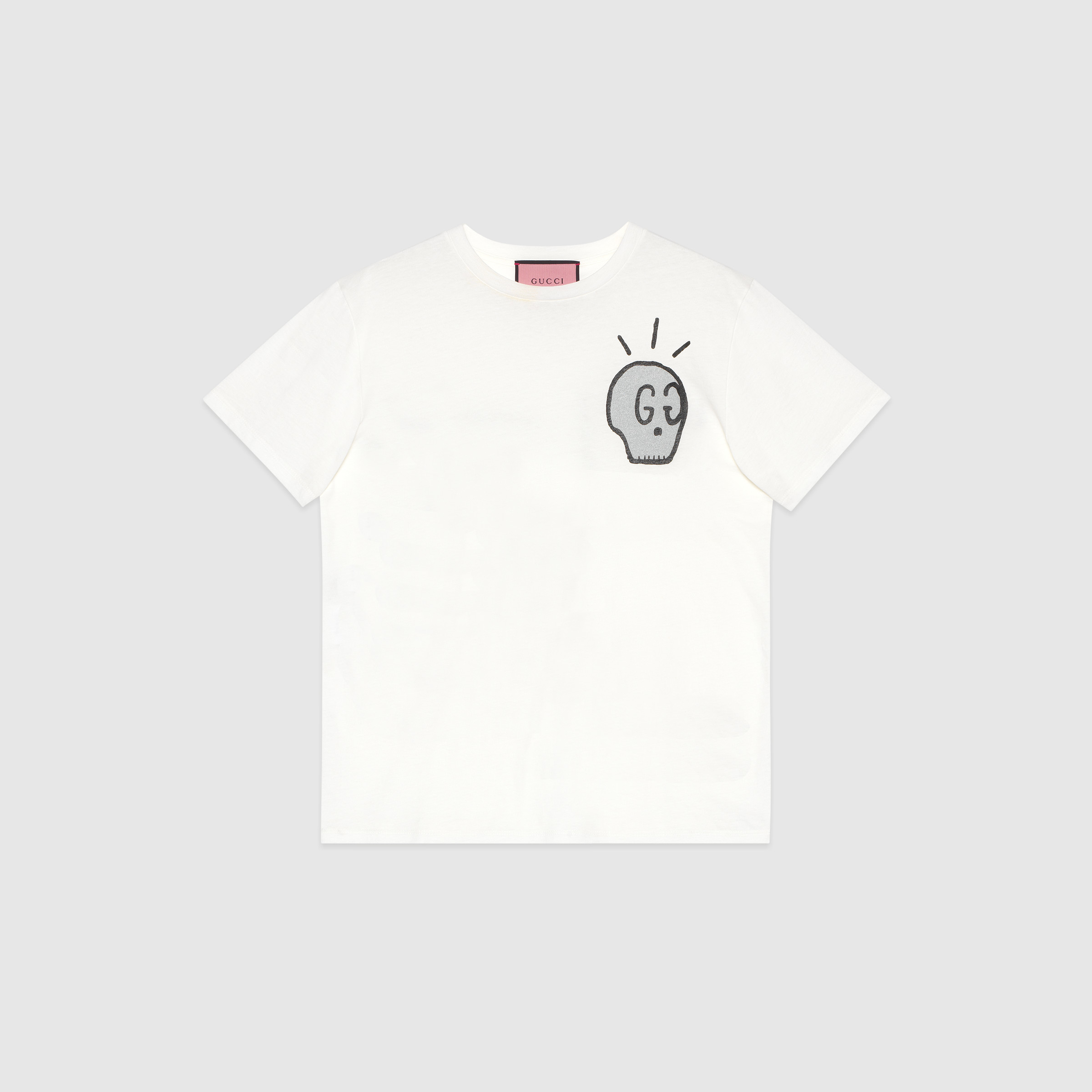 8dd42cad Gucci Ghost T-shirt in White - Lyst
