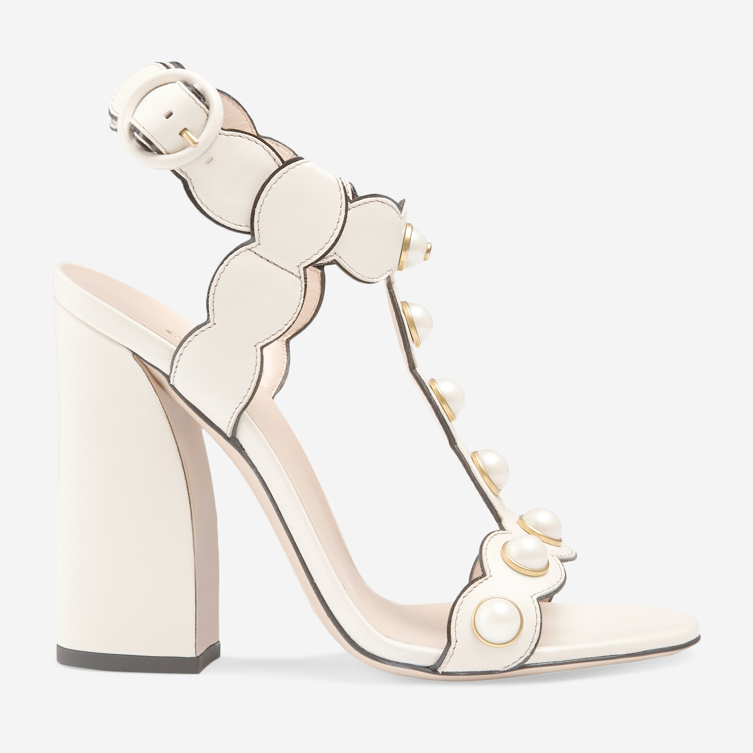 2fafc031bc3ecc Lyst - Gucci Leather T-strap Sandal in Natural