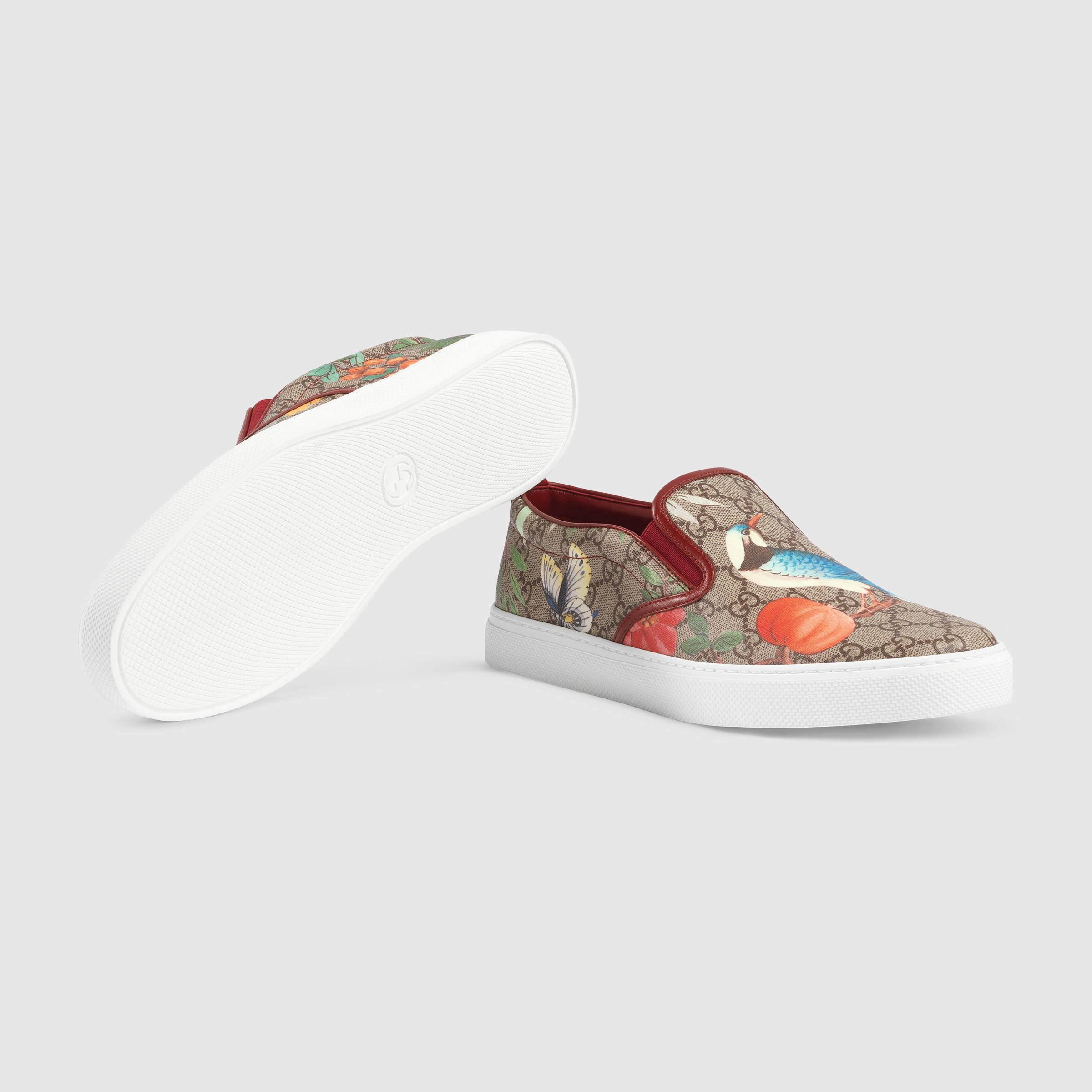 0971ce637723 Lyst - Gucci Men s Tian Slip-on Sneaker in Purple for Men