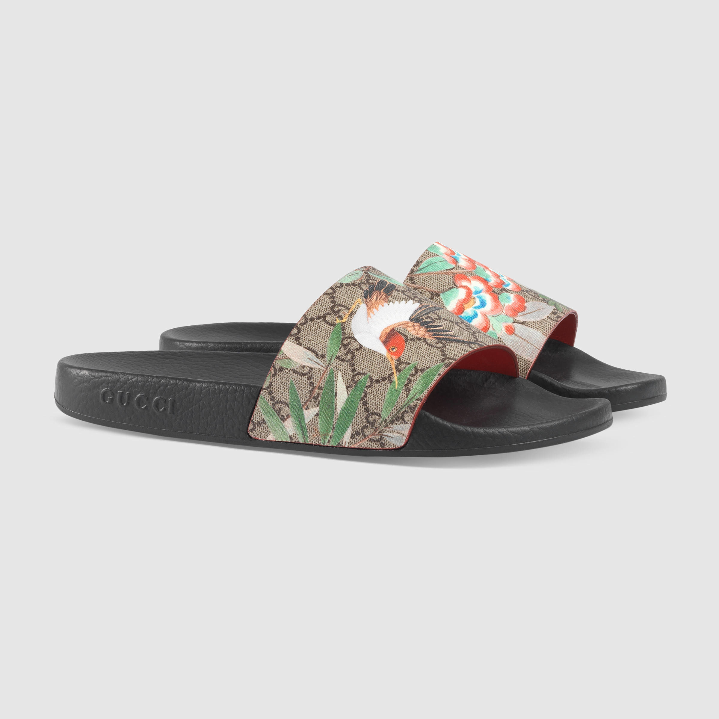 d7dbad0f22e4 Lyst - Gucci Tian Printed Slides for Men