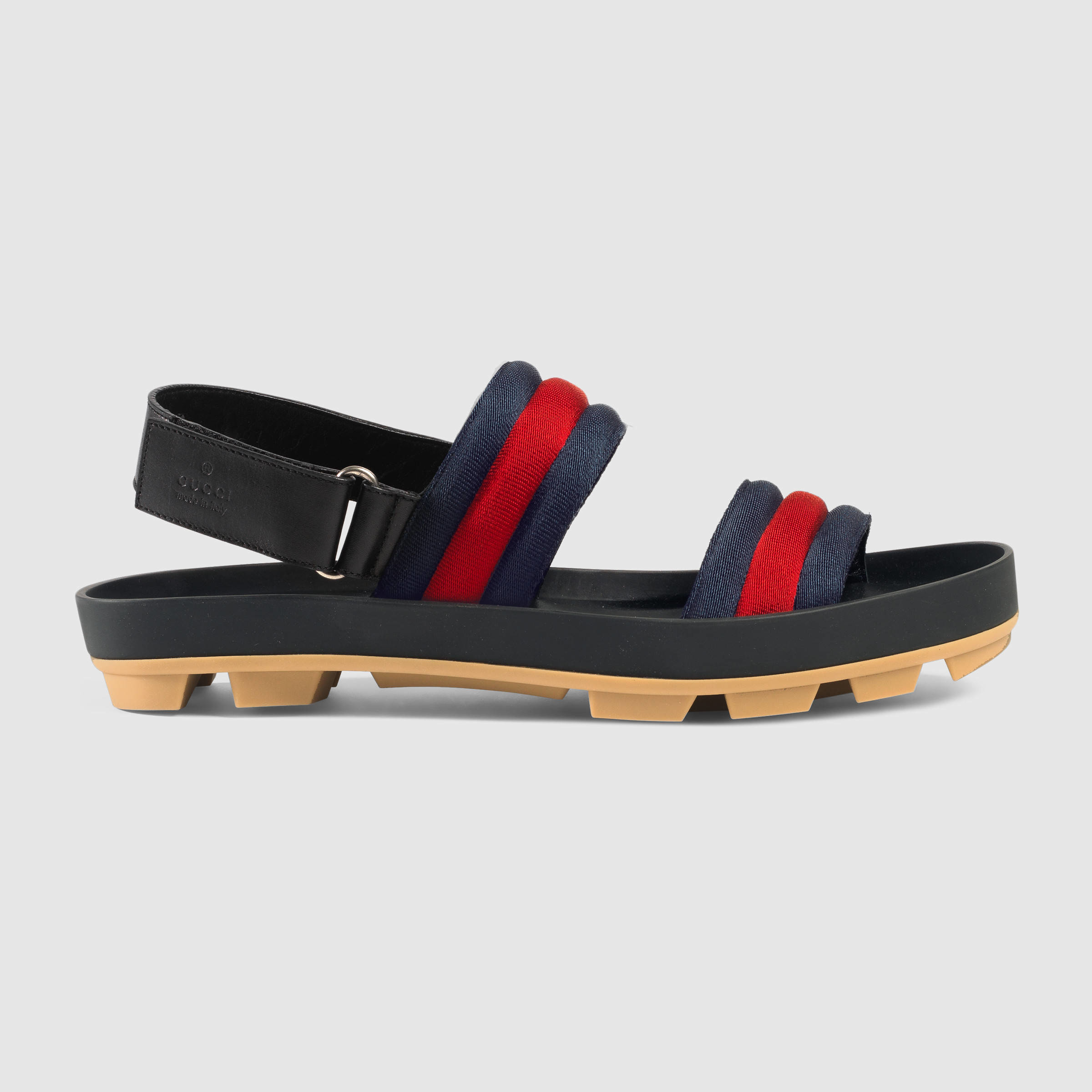 e1d1d8b08f Gucci Leather And Web Sandal for Men - Lyst