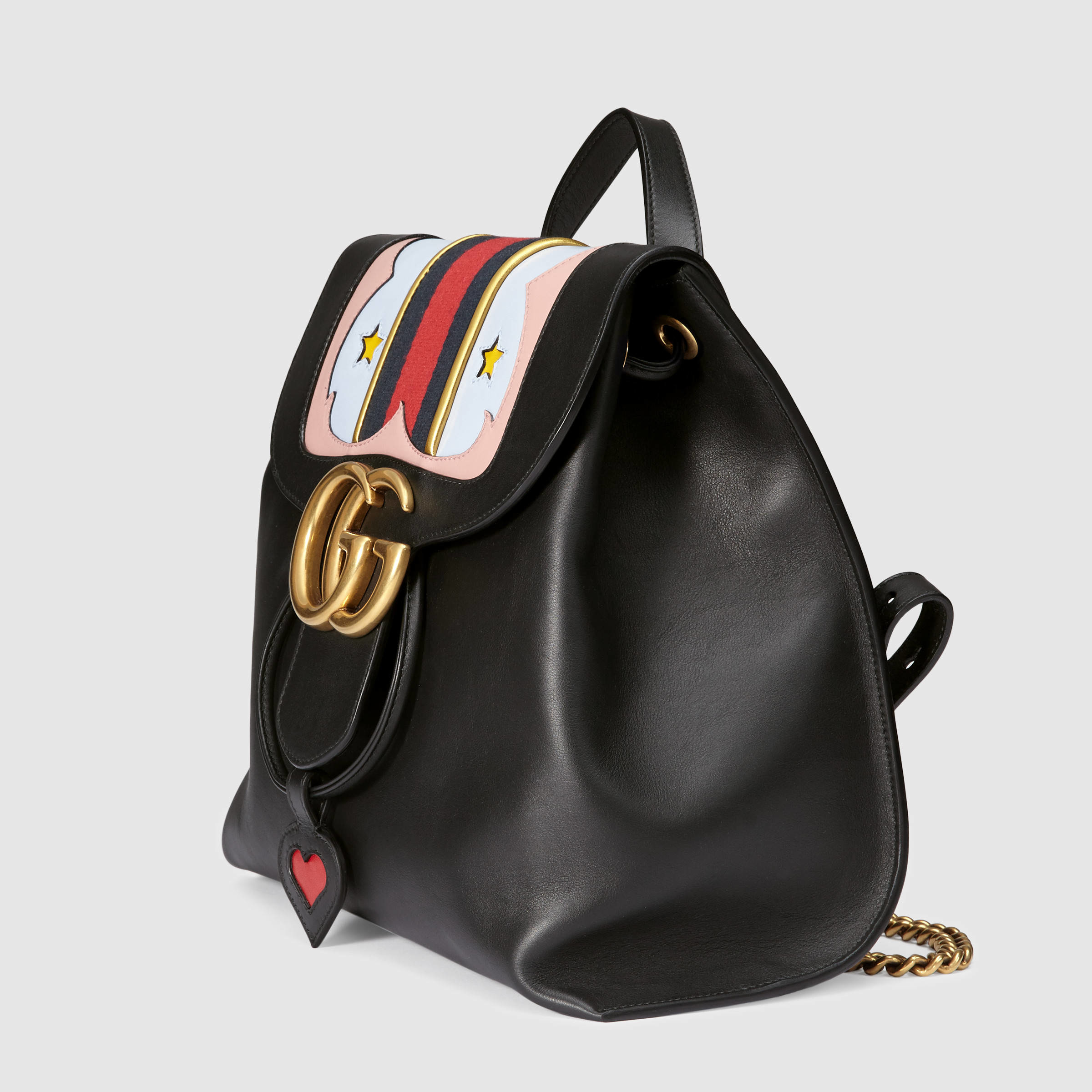 b465b74b83878f Gucci GG Marmont Leather Backpack in Black - Lyst