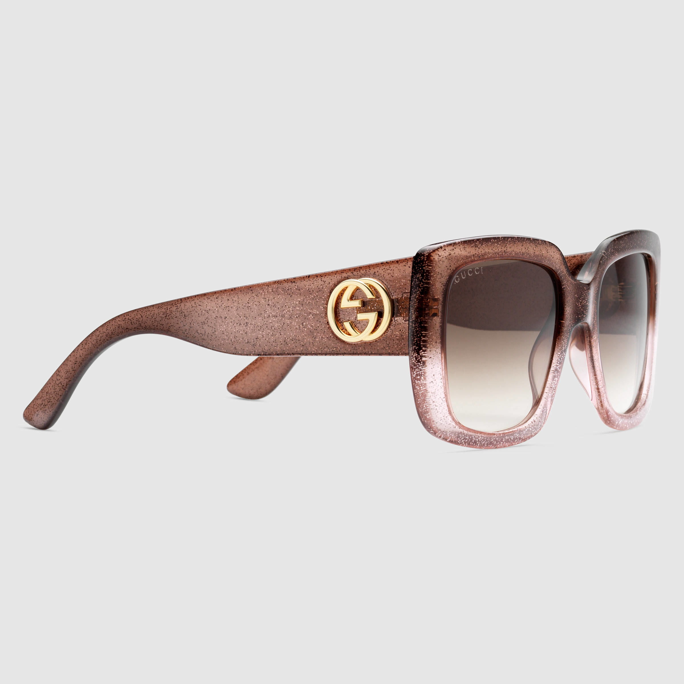 004f5a5e46 Lyst - Gucci Square-frame Optyl Sunglasses in Pink