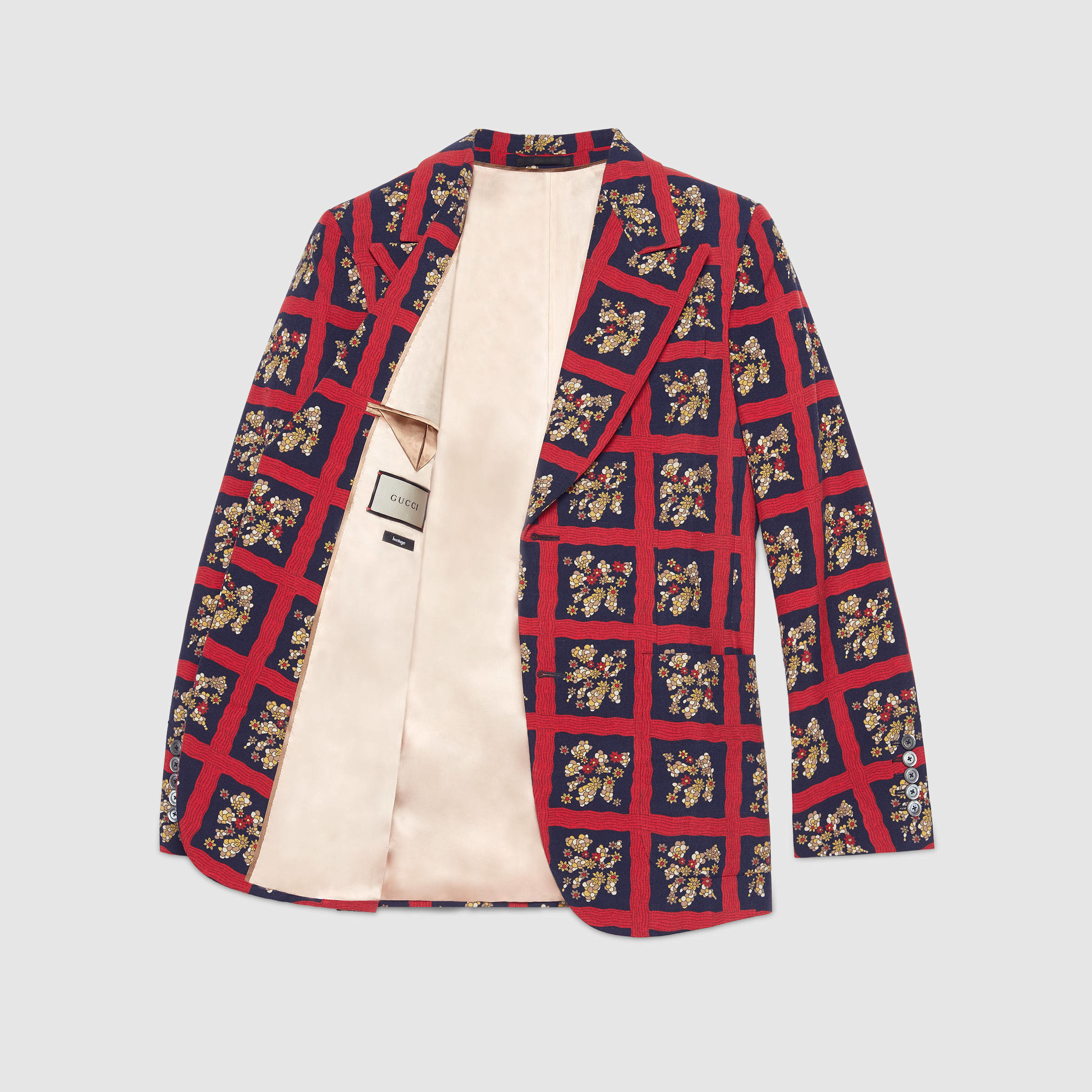 Gucci Heritage Floral Check Print Jacket for Men