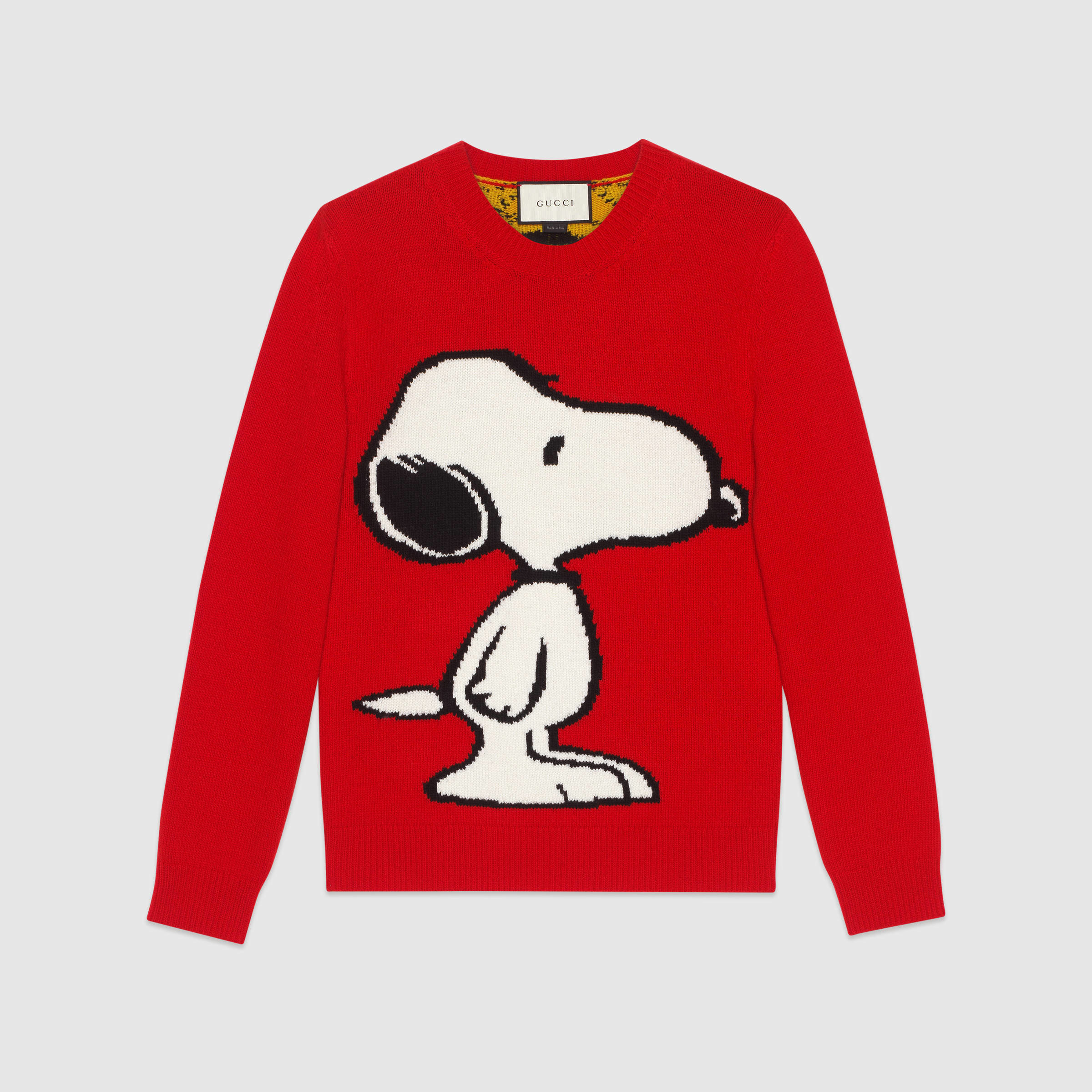 99520a10736 Lyst - Gucci Snoopy Tiger Stripe Sweater in Red for Men