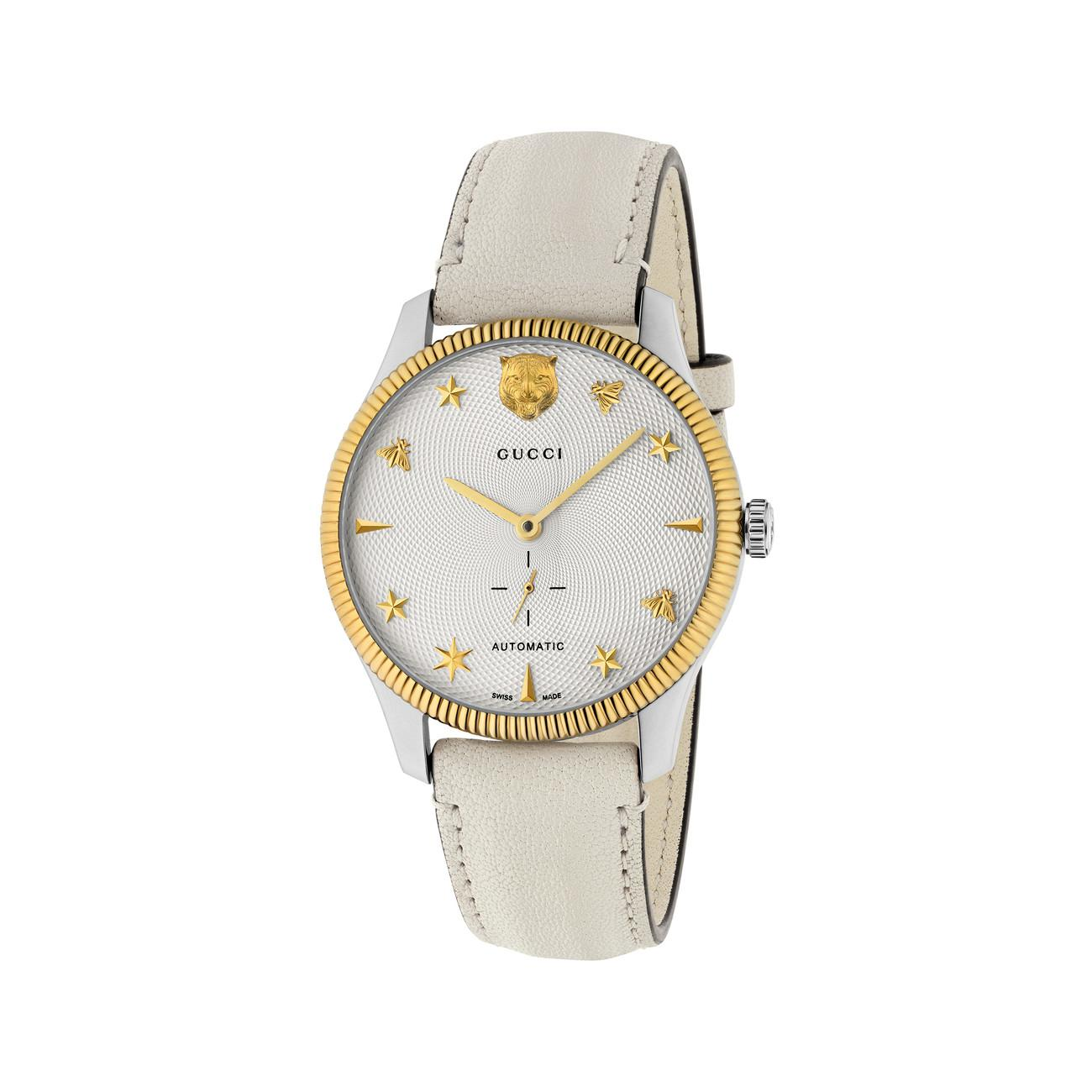 05219447cdc Lyst - Gucci G-timeless Stainless Steel Case 40mm Automatic Silver ...