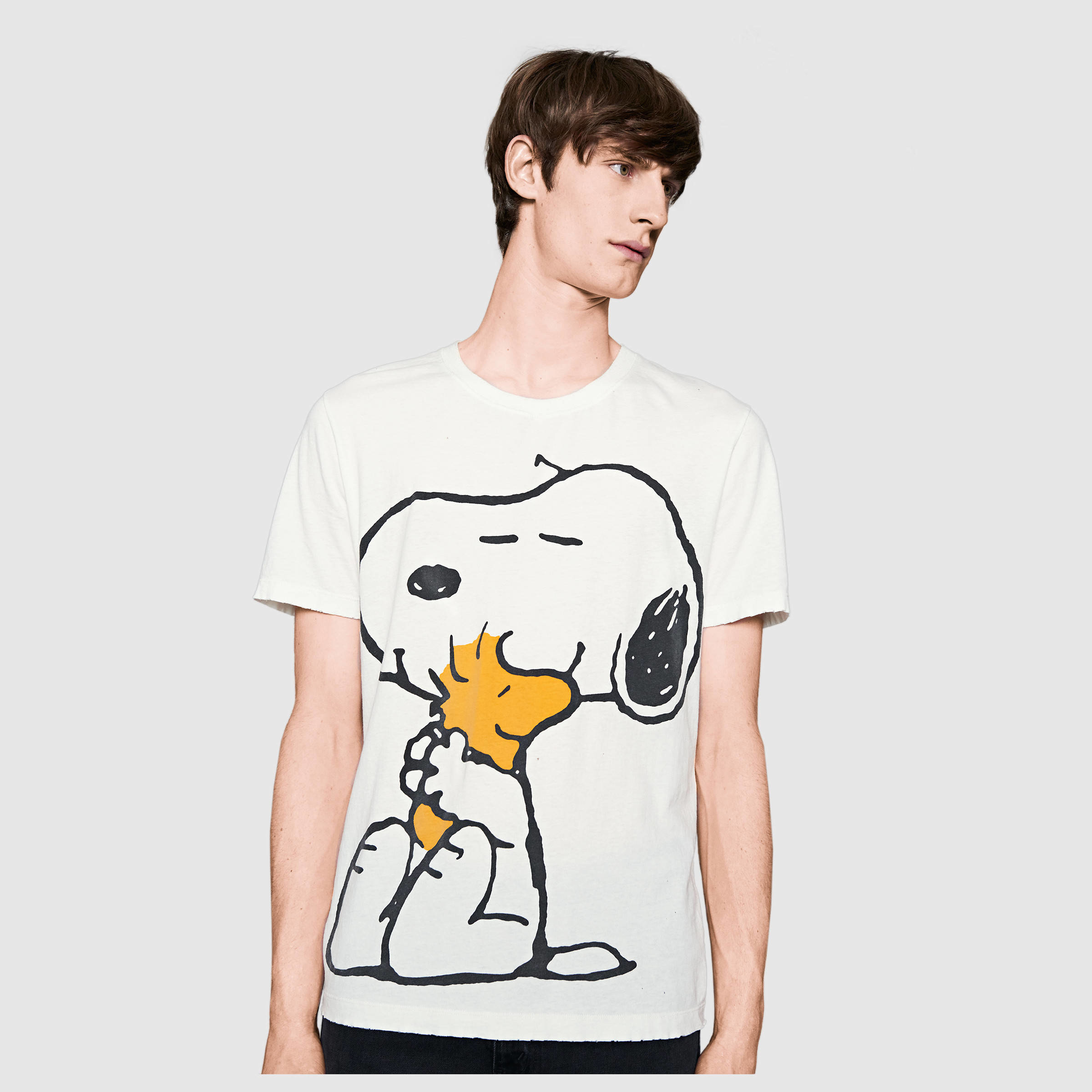 6fd0e75a7 Gucci Washed T-shirt With Peanuts Print in White for Men - Lyst