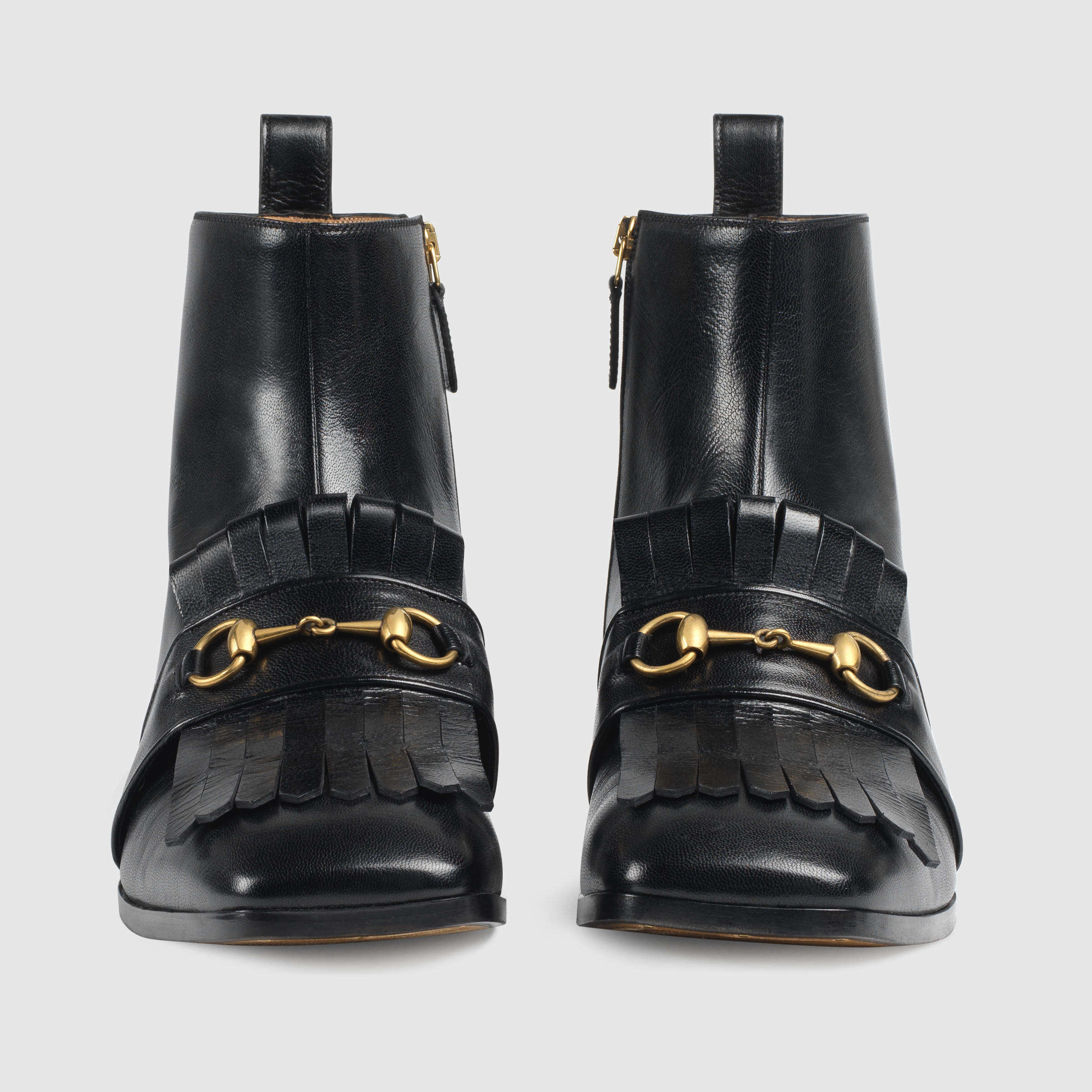 621440ae0 Gucci Gran Duca Leather Ankle Boots in Black for Men - Lyst