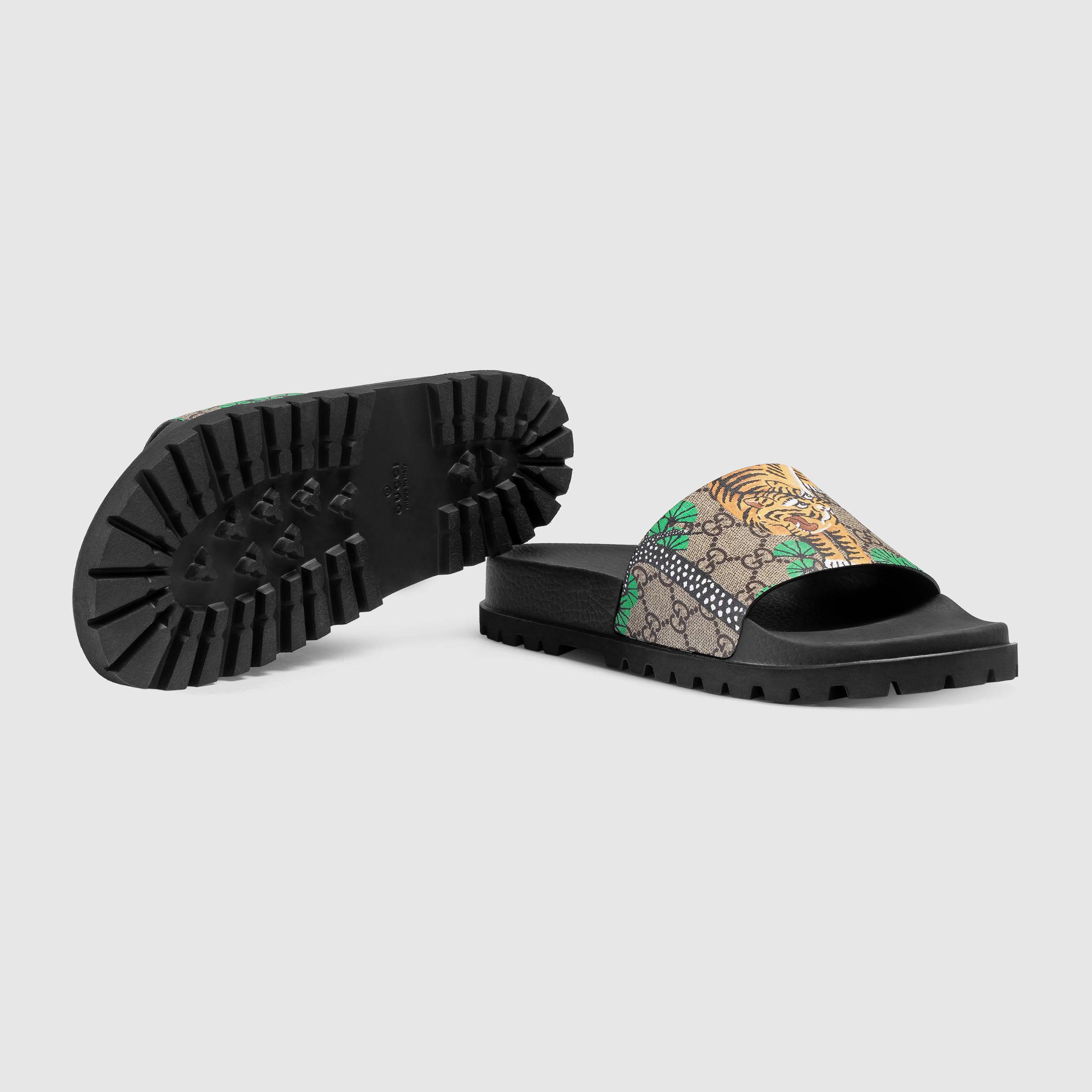 39dc8a7076bd0f Lyst - Gucci Bengal Slide Sandal