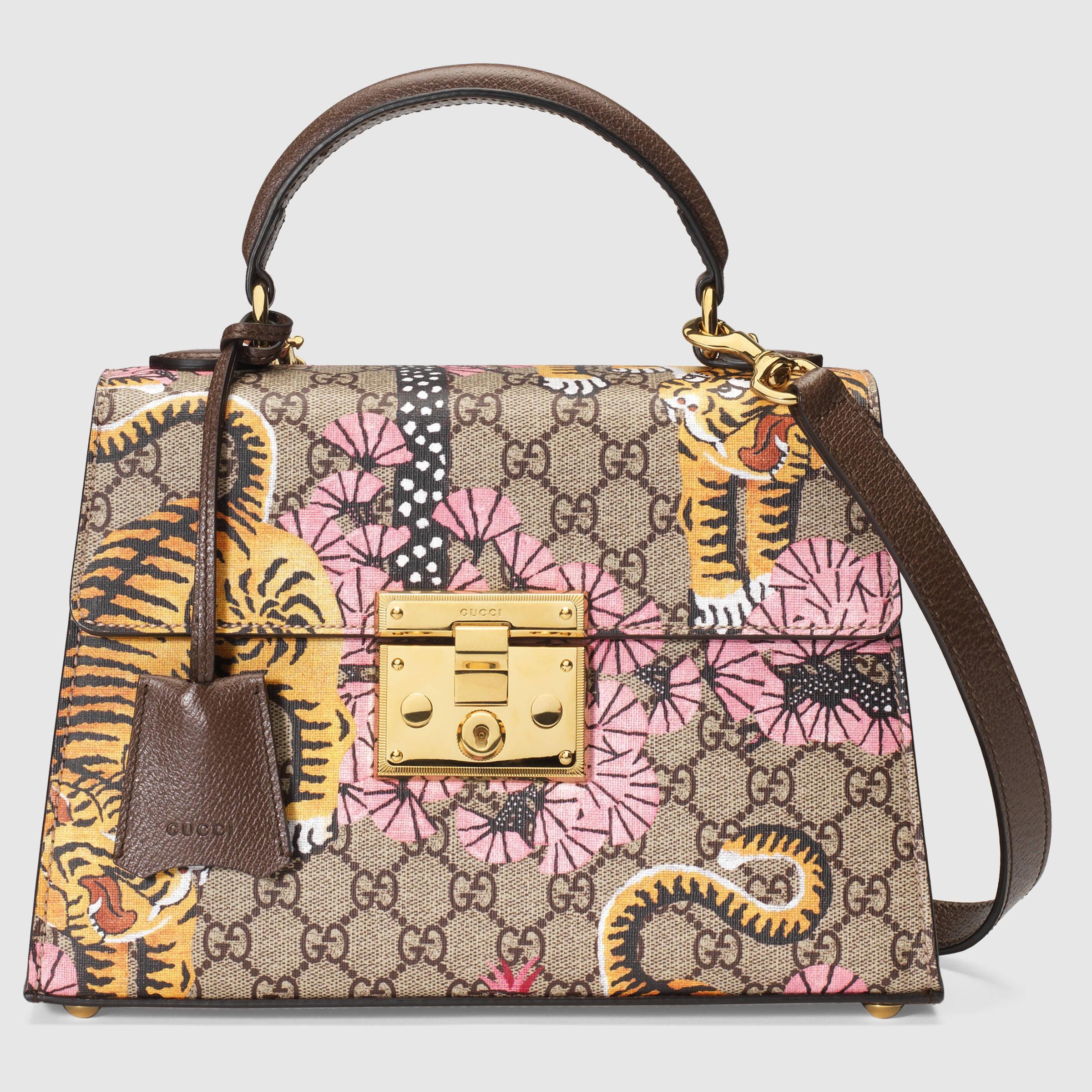 eacc87d743b4 Lyst - Gucci Padlock Bengal Top Handle Bag