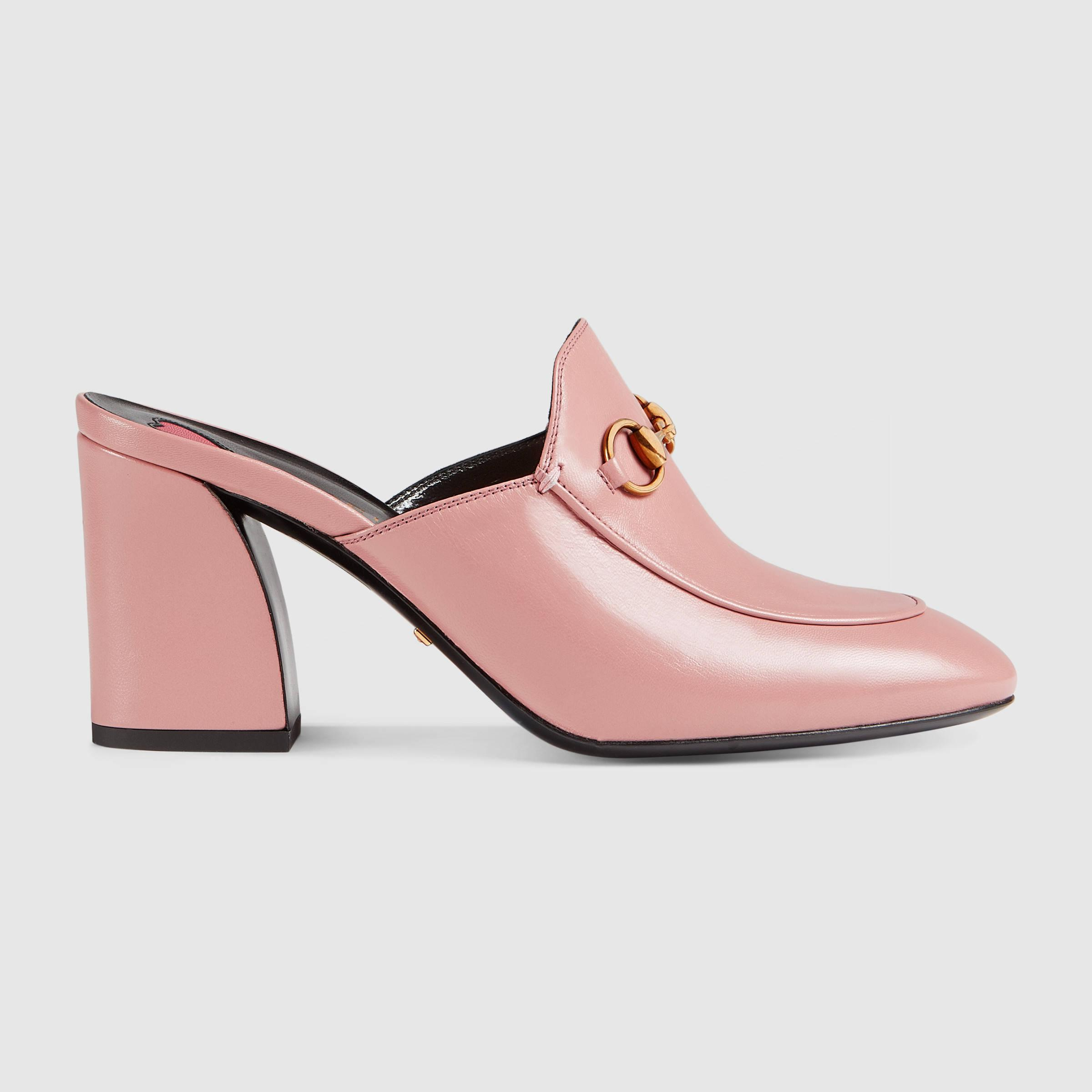 Womens lined leather gloves - Polished Appeal With Gucci S Pink Princetown Mules Made From Leather